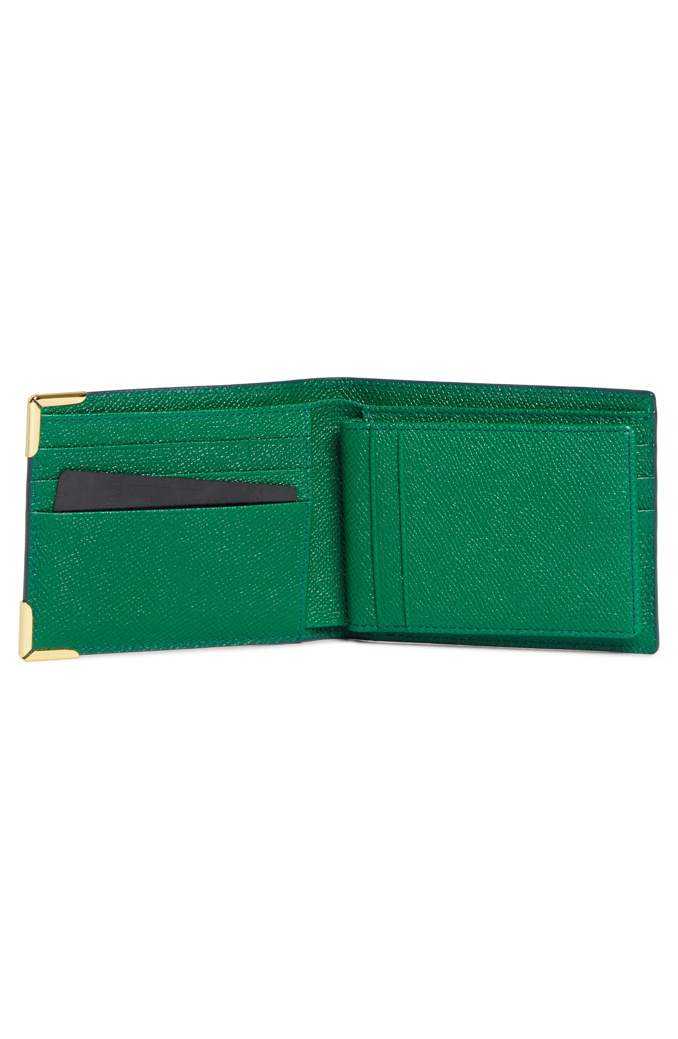 MCM, Small RGB Coin Wallet, Alternate thumbnail 2, color, GREEN