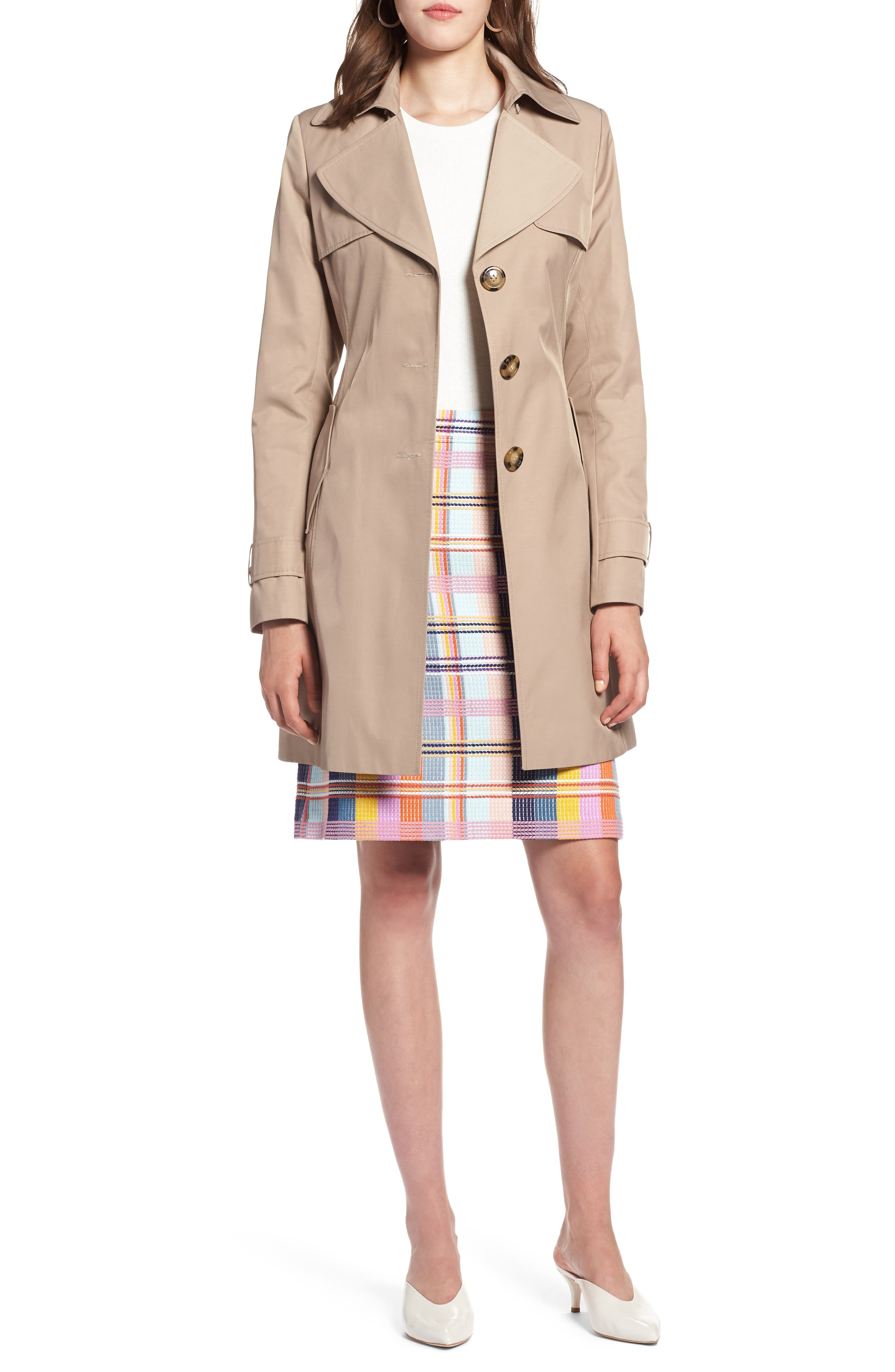 HALOGEN<SUP>®</SUP>, Hooded Trench Coat, Main thumbnail 1, color, 299