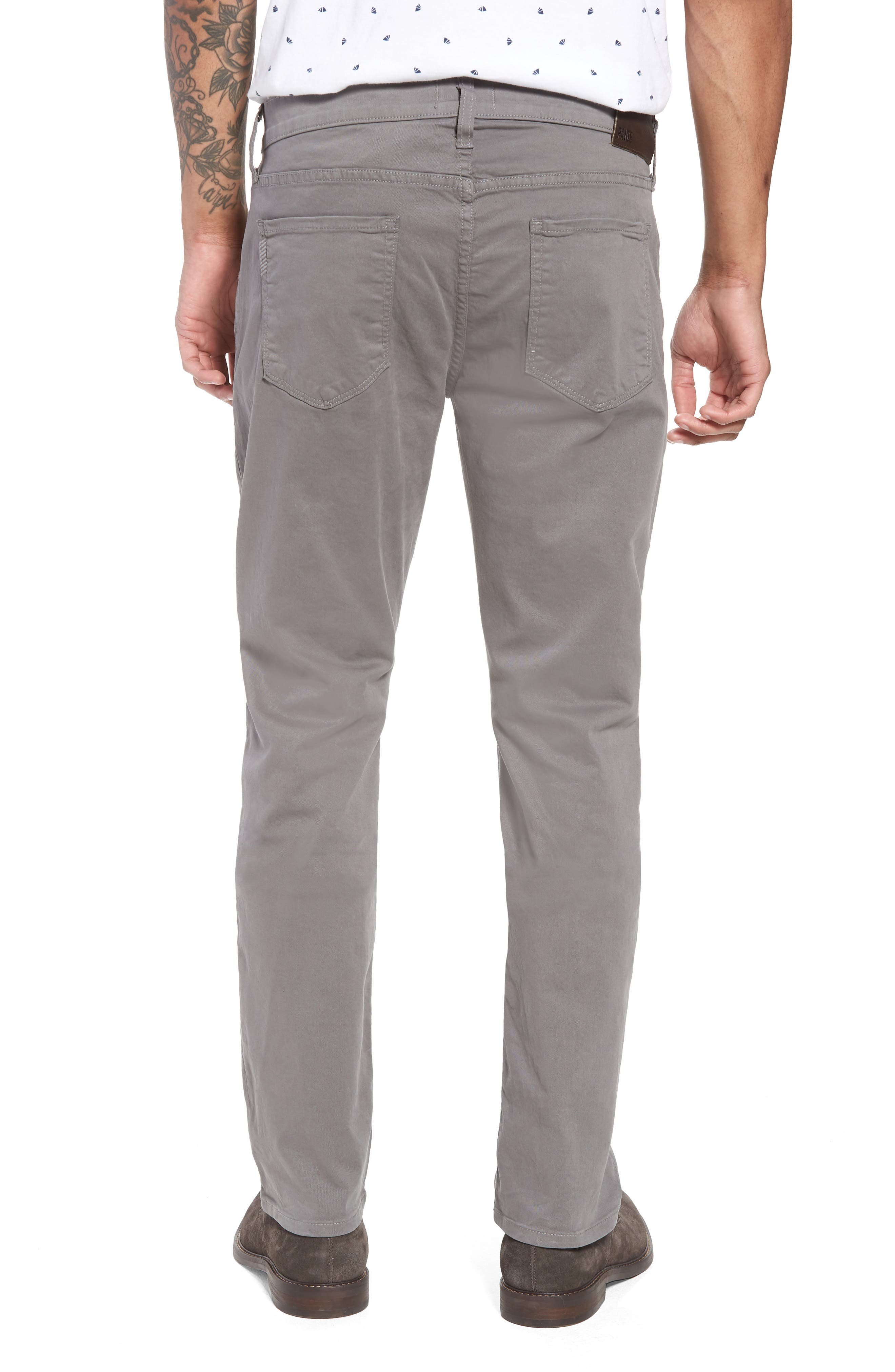 PAIGE, 'Federal' Slim Straight Leg Twill Pants, Alternate thumbnail 2, color, 022
