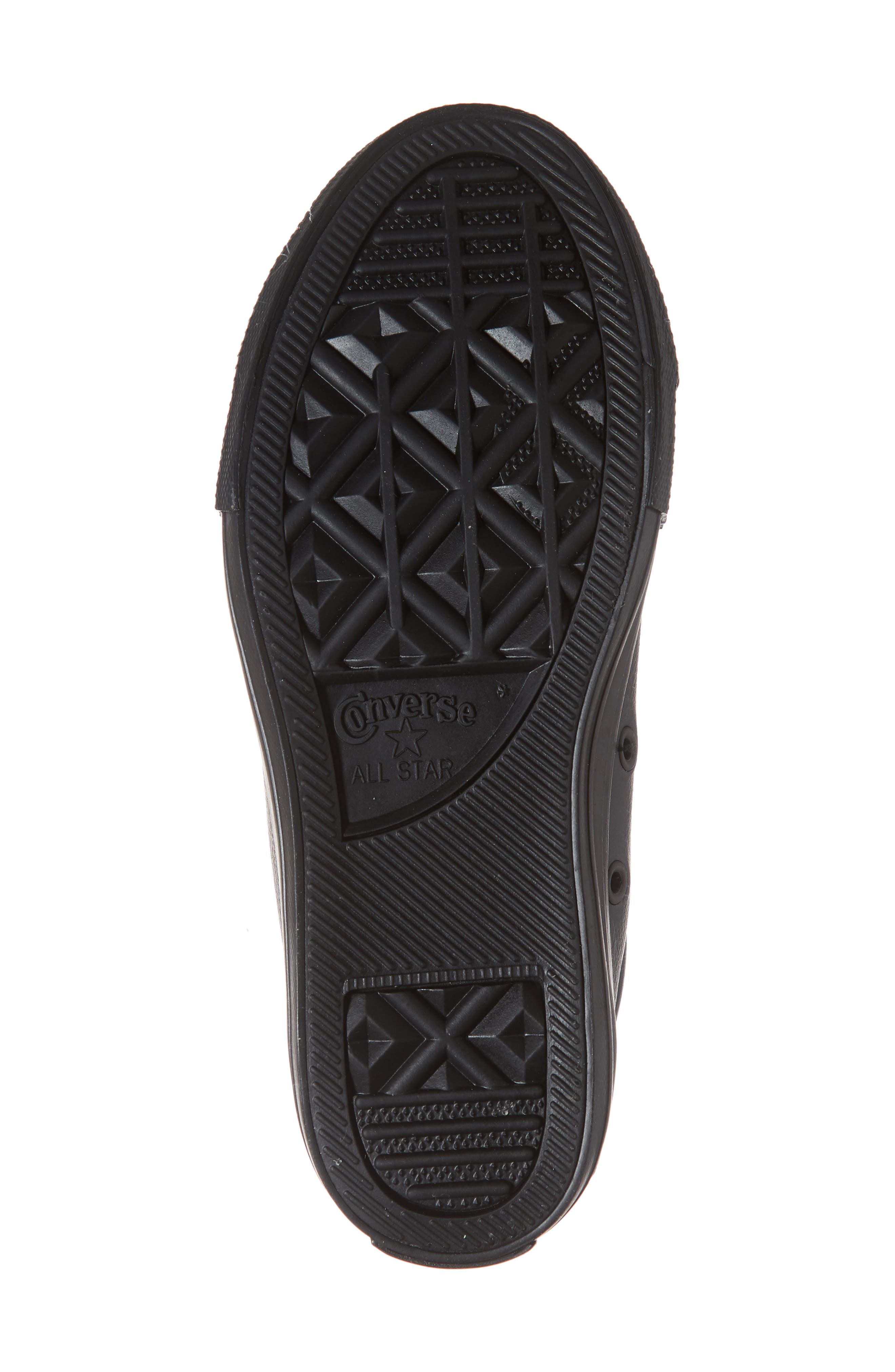 CONVERSE, Chuck Taylor<sup>®</sup> All Star<sup>®</sup> 'Street Ox' Sneaker, Alternate thumbnail 6, color, BLACK MONO