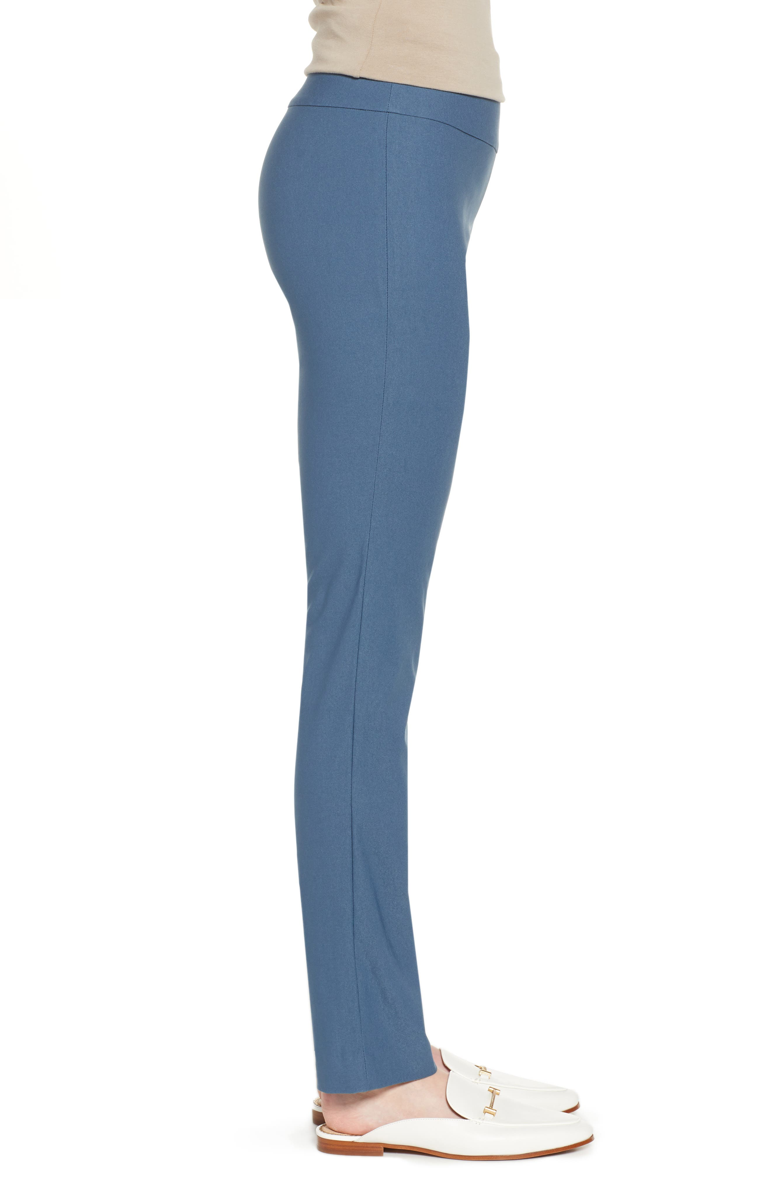 NIC+ZOE, Wonderstretch Straight Leg Pants, Alternate thumbnail 4, color, INDIGO SEA