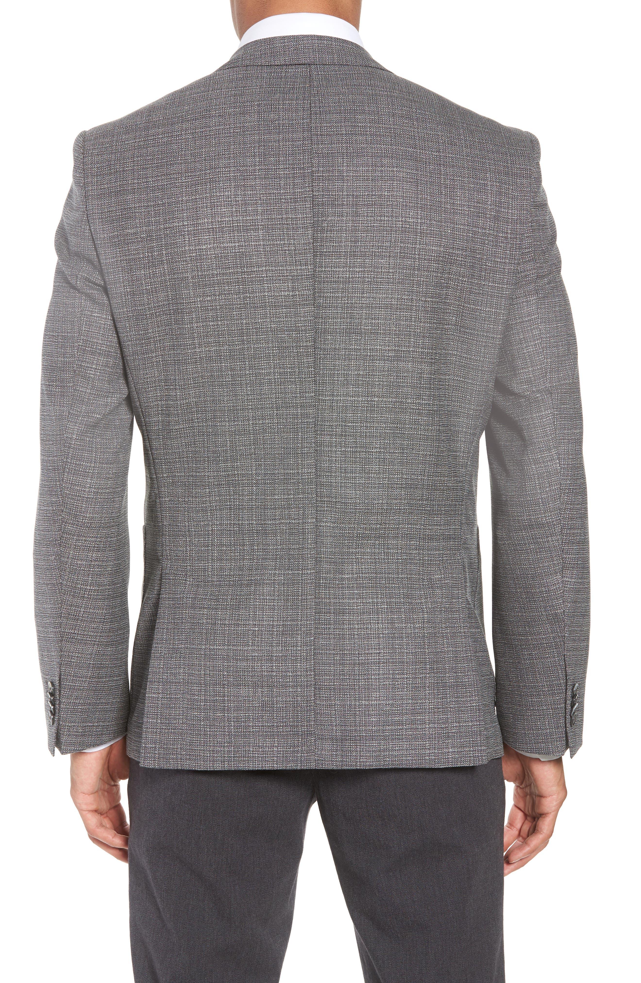 BOSS, Janson Classic Fit Wool Blazer, Alternate thumbnail 2, color, GREY