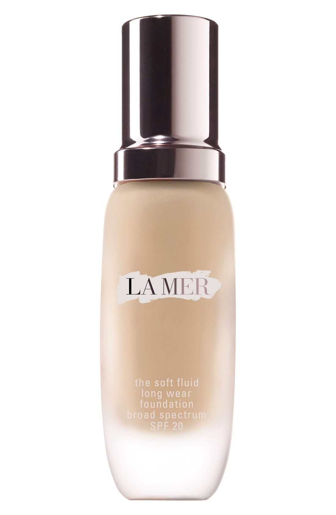 LA MER, Soft Fluid Long Wear Foundation SPF 20, Main thumbnail 1, color, 01 - PORCELAIN