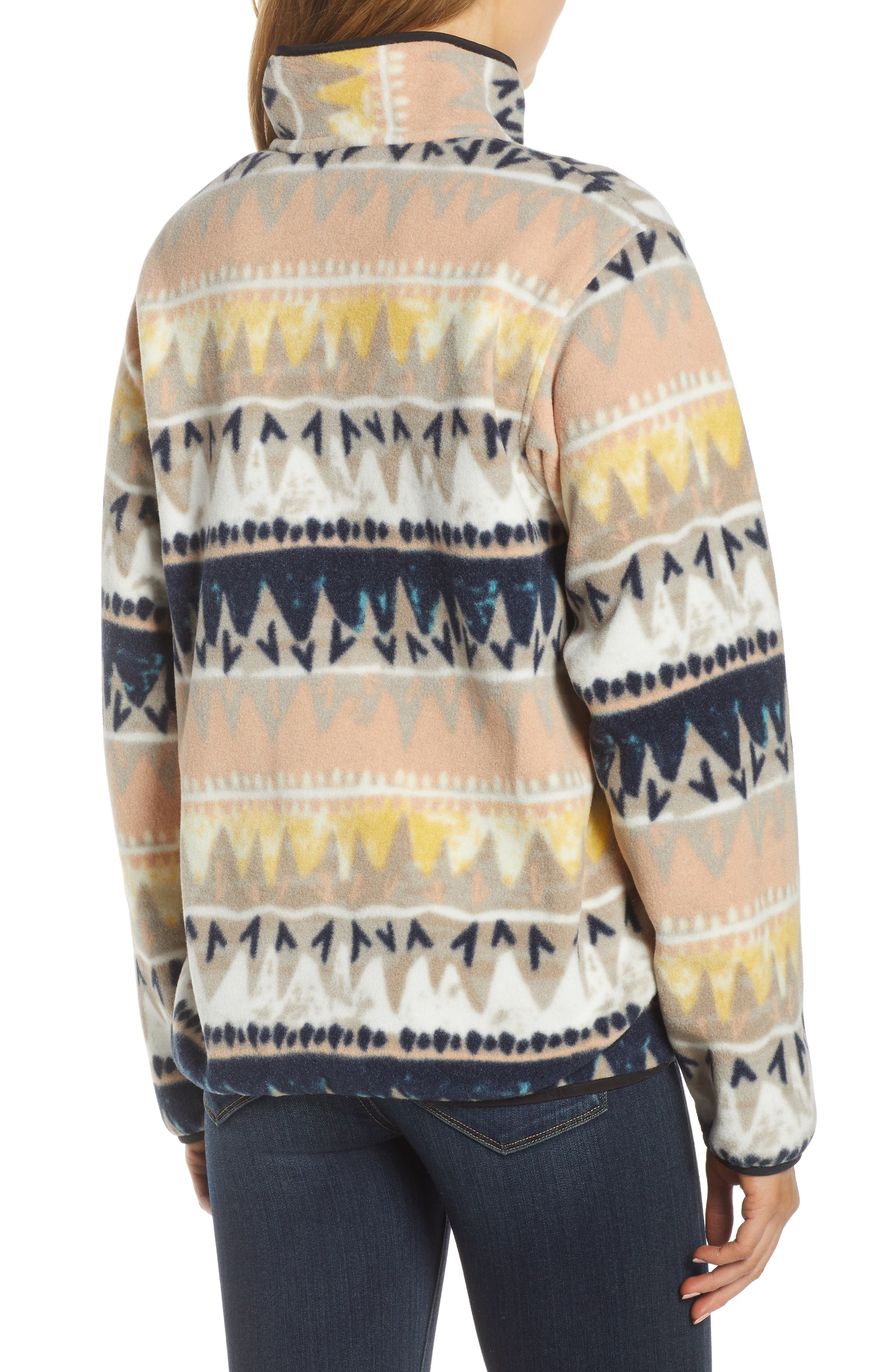 PATAGONIA, Synchilla Snap-T<sup>®</sup> Fleece Pullover, Alternate thumbnail 2, color, BANDICOOT/ MARROW GREY