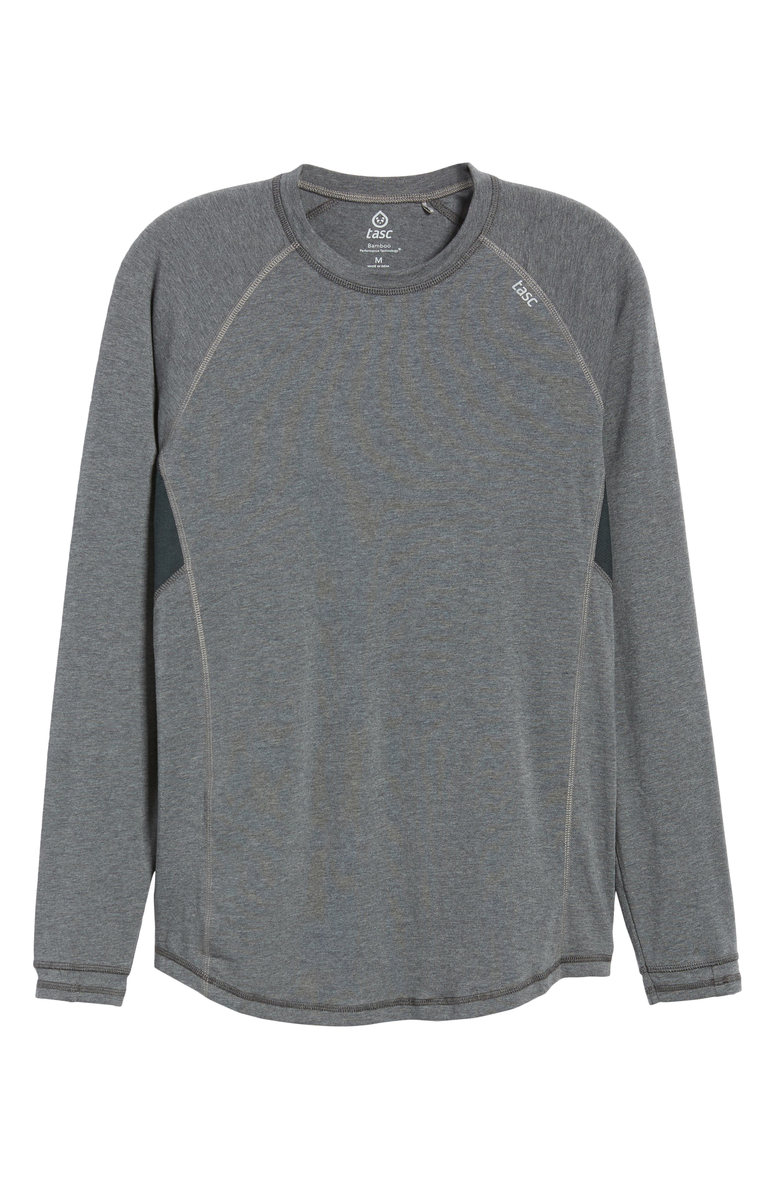 TASC PERFORMANCE, Charge II Long Sleeve Shirt, Alternate thumbnail 6, color, BLACK HEATHER