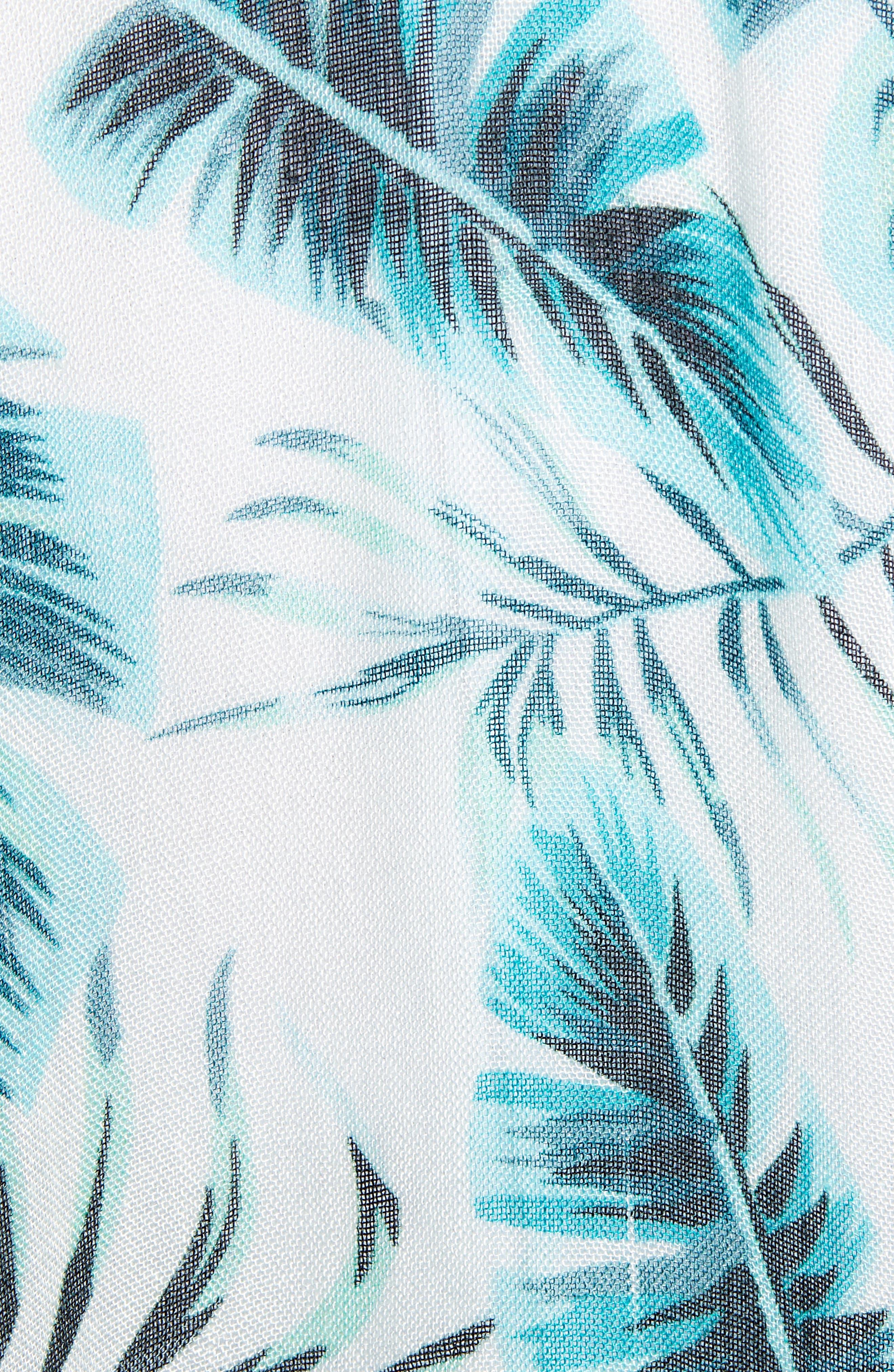 ECHO, Palm Leaf Kimono, Alternate thumbnail 5, color, EMERALD SEA