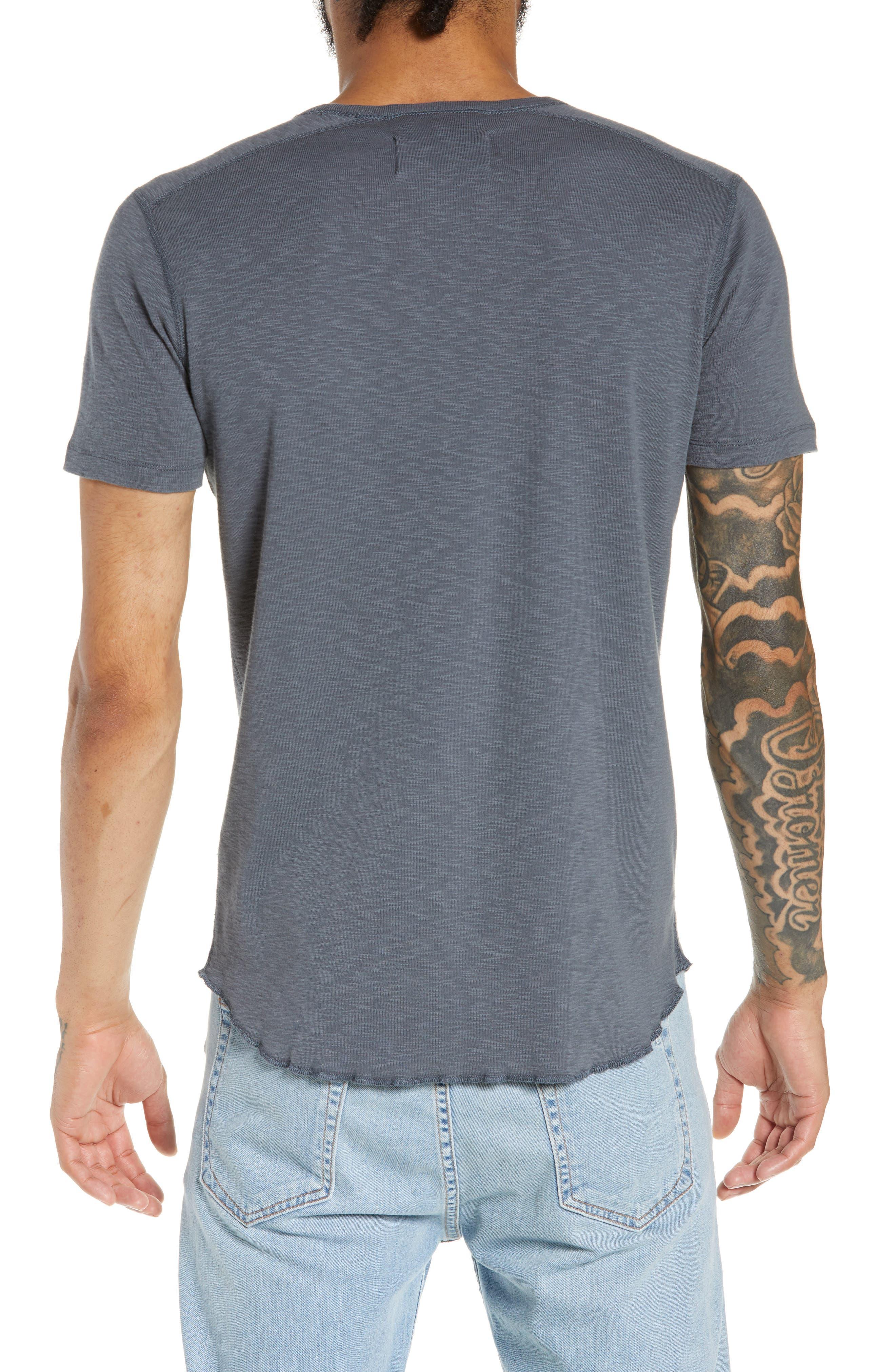 WINGS + HORNS, Ribbed Slub Cotton T-Shirt, Alternate thumbnail 2, color, SHADOW