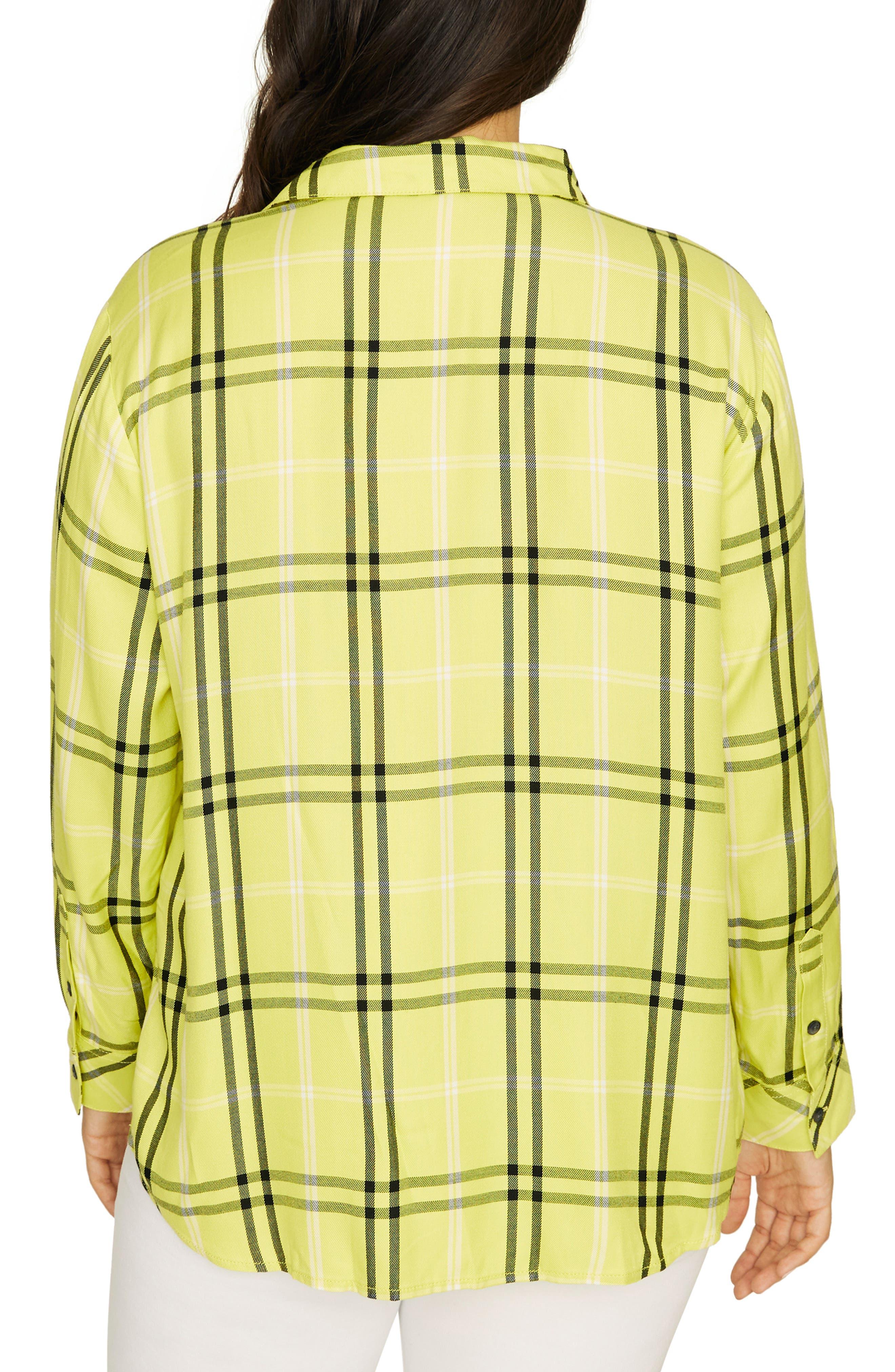 SANCTUARY, Boyfriend for Life Oversize Check Shirt, Alternate thumbnail 2, color, 700
