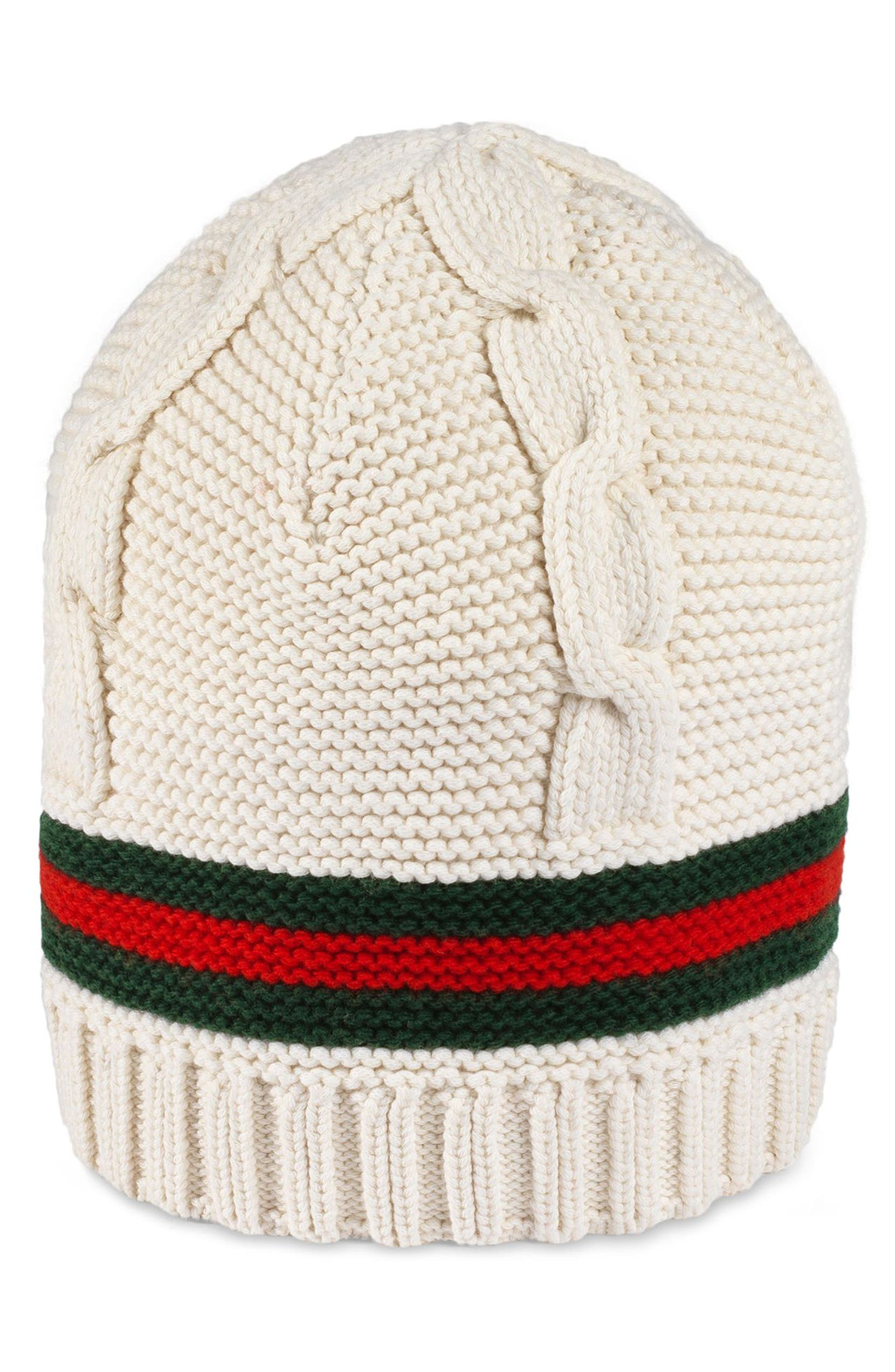 43bb6d99a82 Gucci Liom Cable Knit Beanie