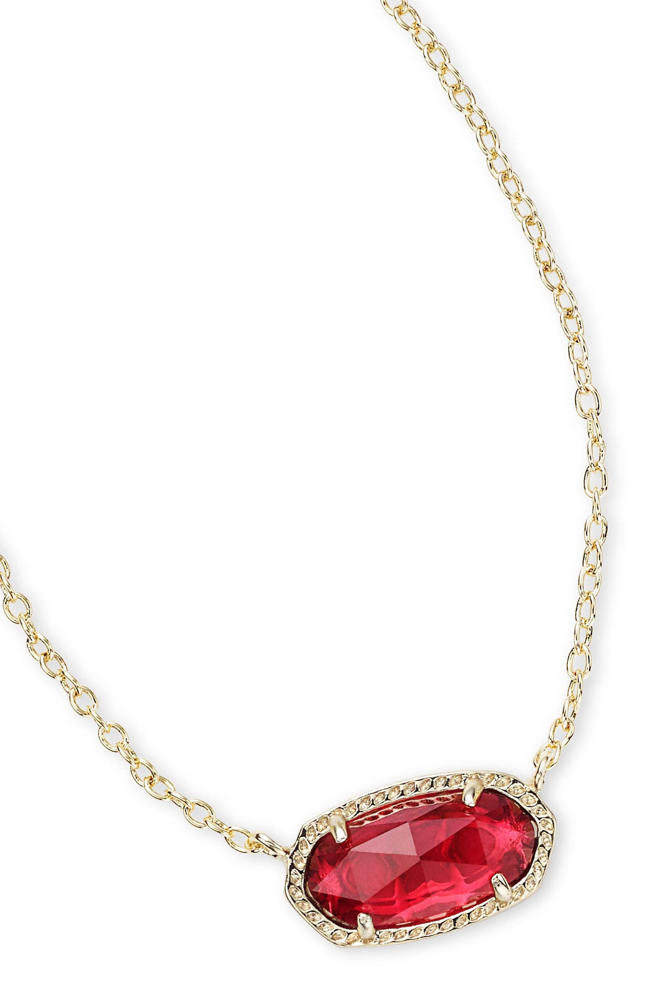 KENDRA SCOTT, Elisa Birthstone Pendant Necklace, Alternate thumbnail 6, color, JANUARY/BERRY/GOLD