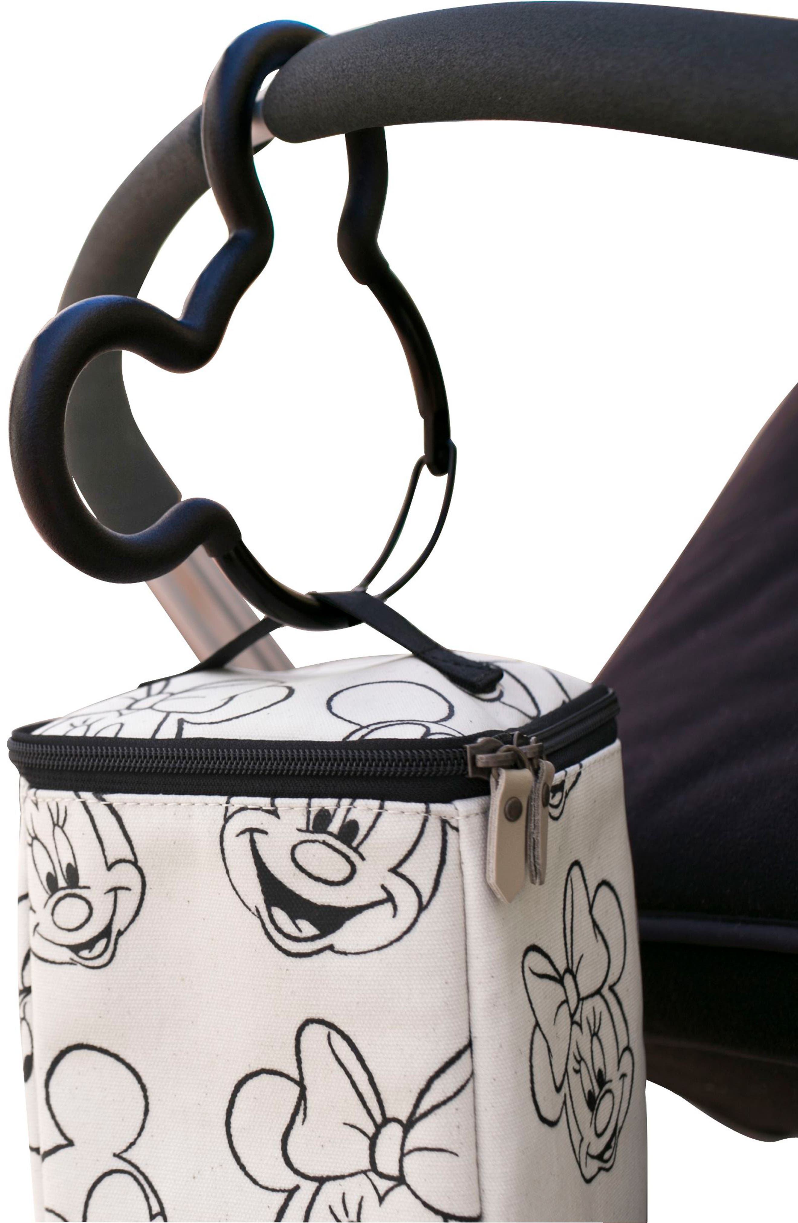 PETUNIA PICKLE BOTTOM, Mickey Mouse<sup>®</sup> Stroller Hook, Alternate thumbnail 2, color, BLACK/ BLACK