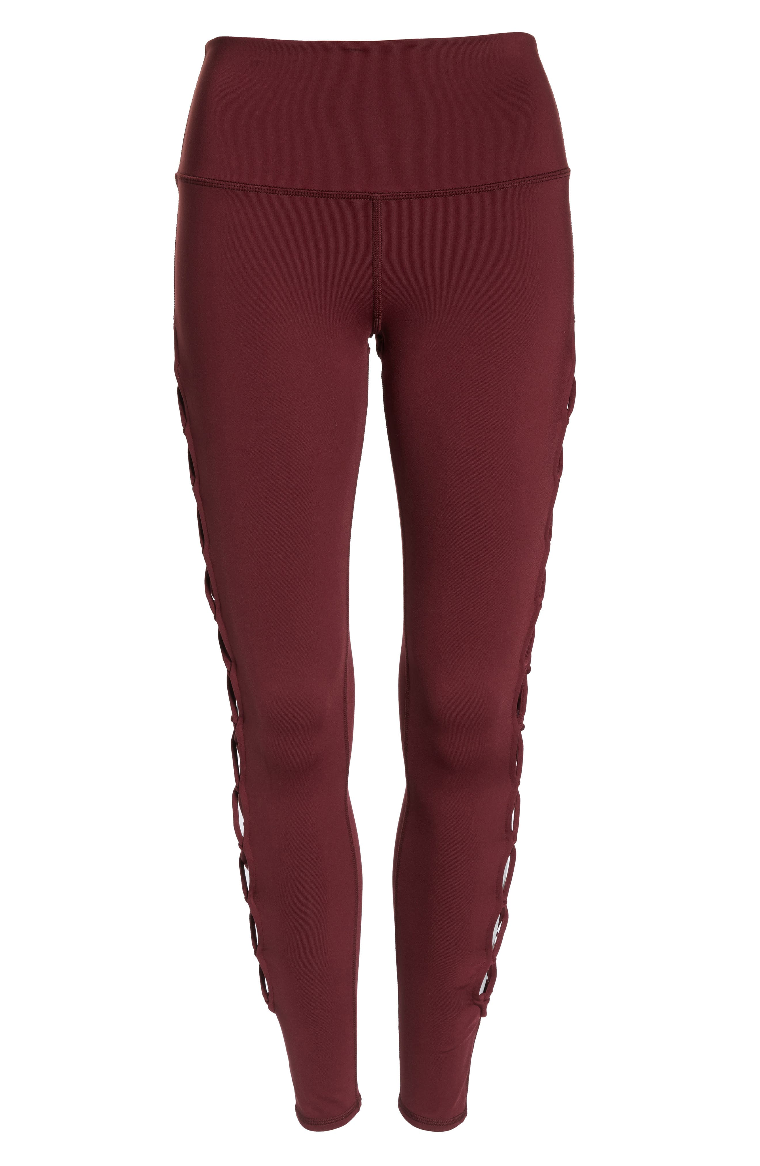 ALO, Interlace Leggings, Alternate thumbnail 7, color, 936
