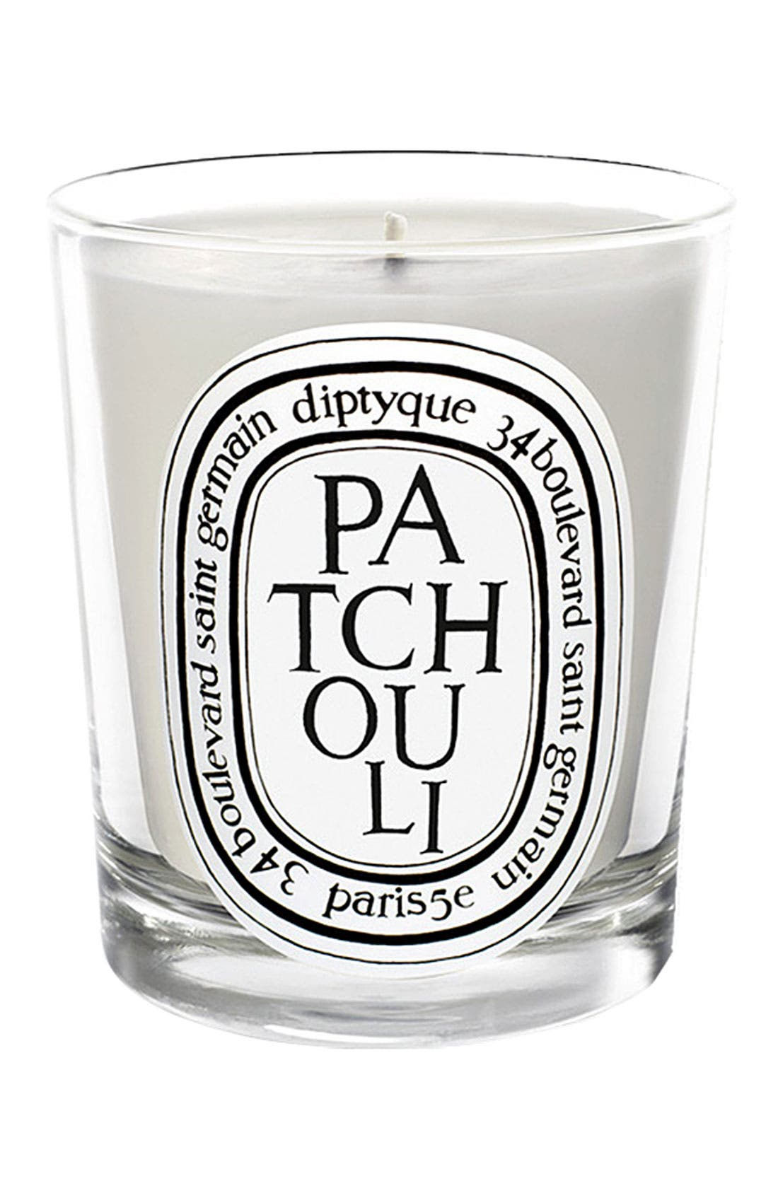 DIPTYQUE, Patchouli Scented Candle, Main thumbnail 1, color, NO COLOR