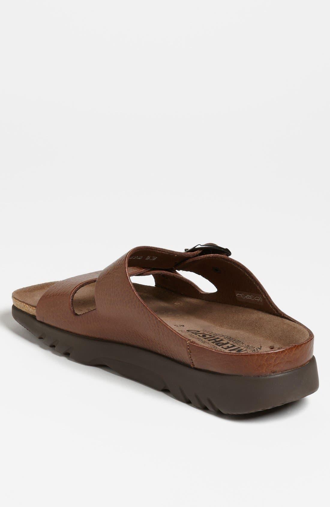 MEPHISTO, 'Zonder 2' Sandal, Alternate thumbnail 3, color, TAN GRAIN