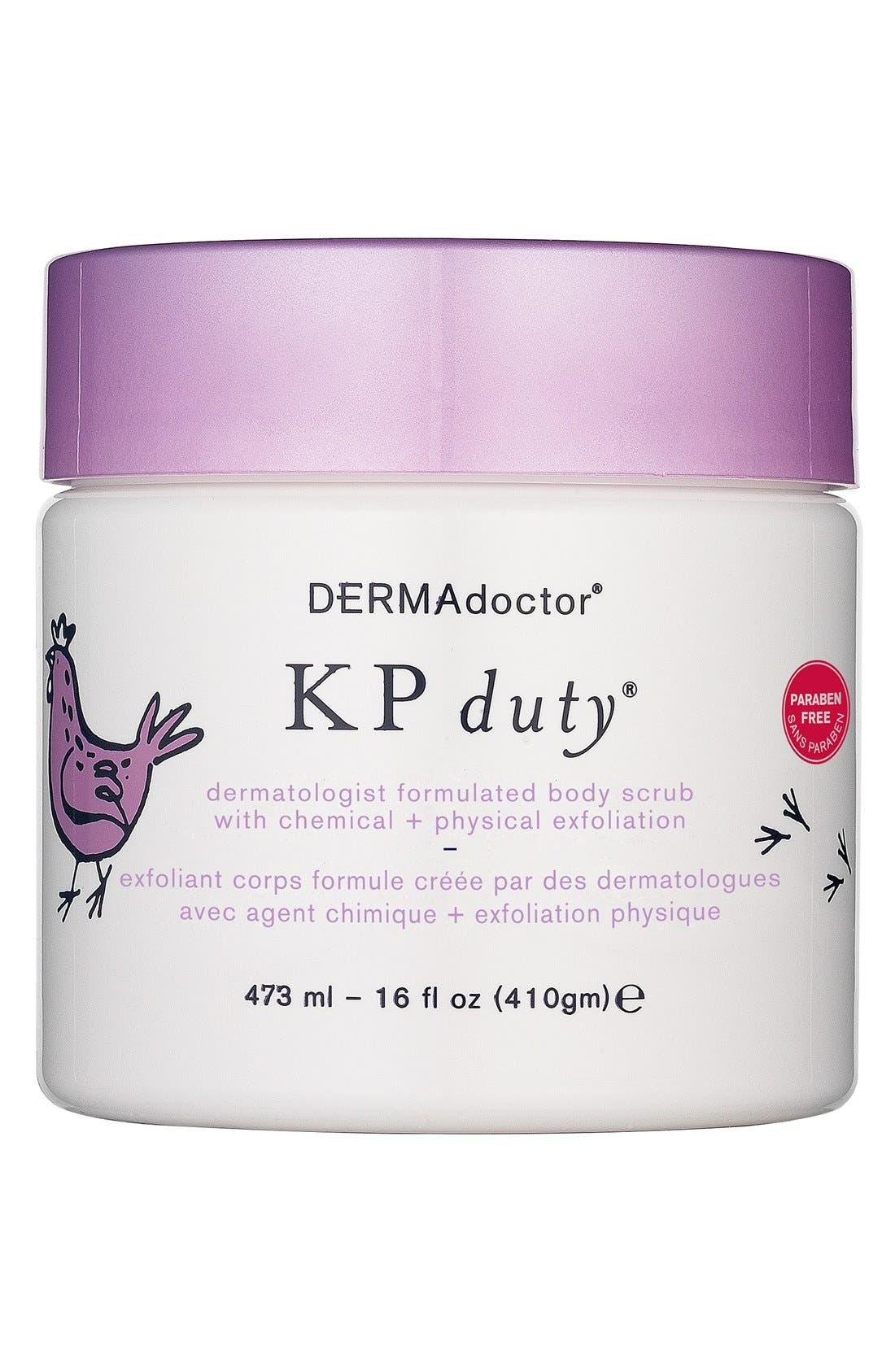 DERMADOCTOR<SUP>®</SUP>, 'KP duty<sup>®</sup>' Dermatologist Formulated Body Scrub with Chemical + Physical Exfoliation, Main thumbnail 1, color, 000