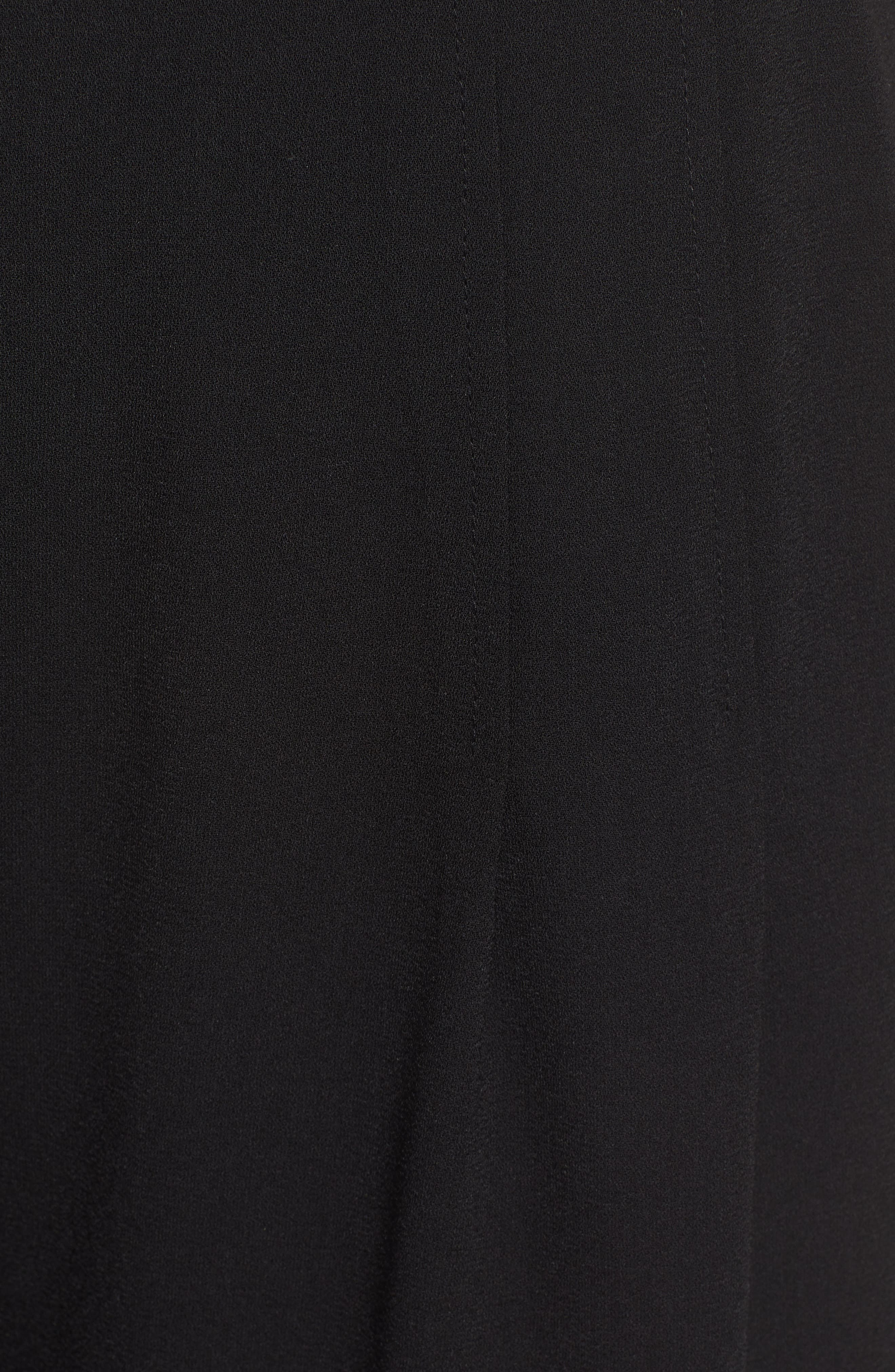 BP., High Waist Soft Wide Leg Crop Pants, Alternate thumbnail 7, color, BLACK