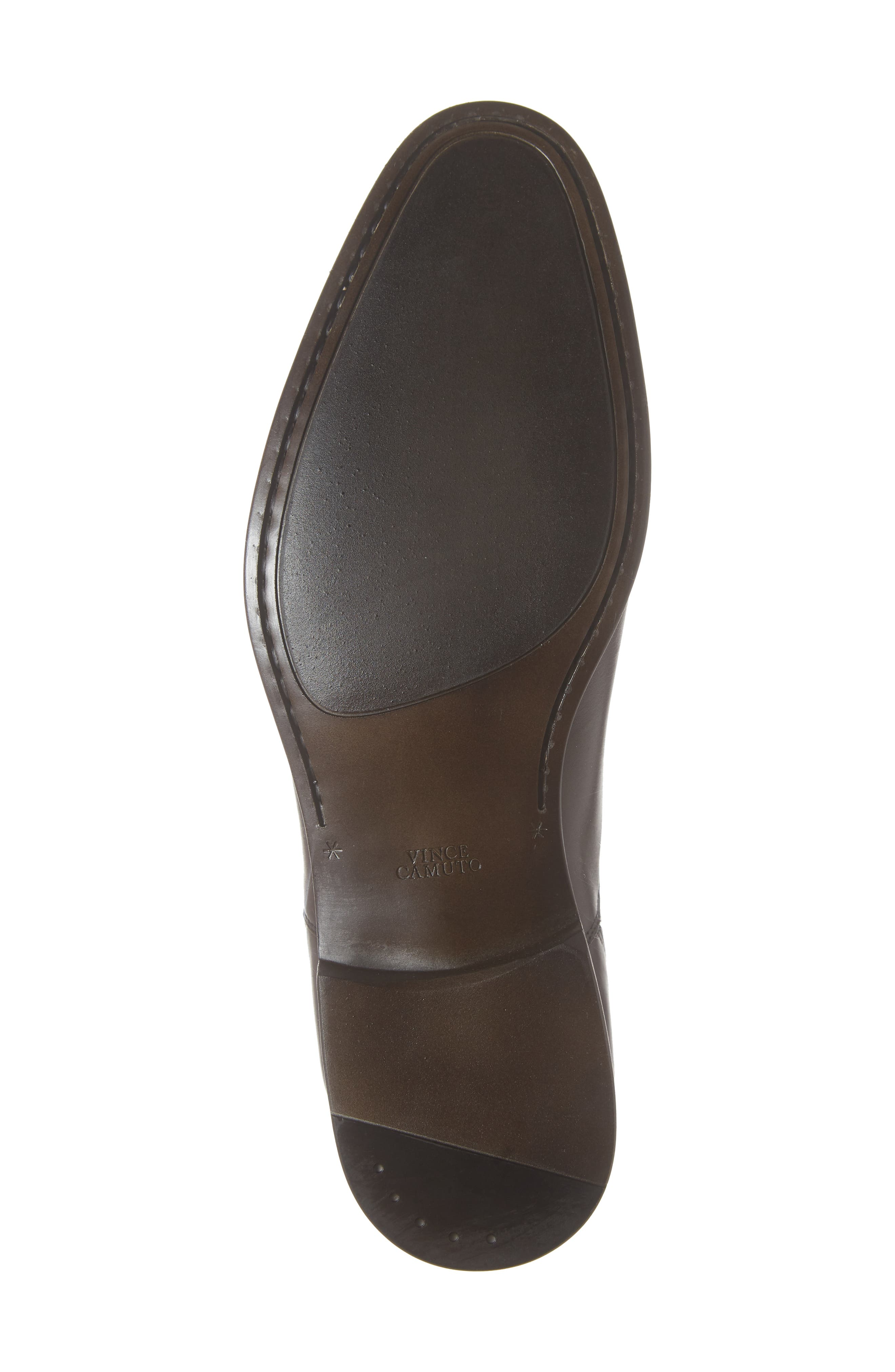 VINCE CAMUTO, Iven Cap Toe Oxford, Alternate thumbnail 6, color, DARK BROWN LEATHER