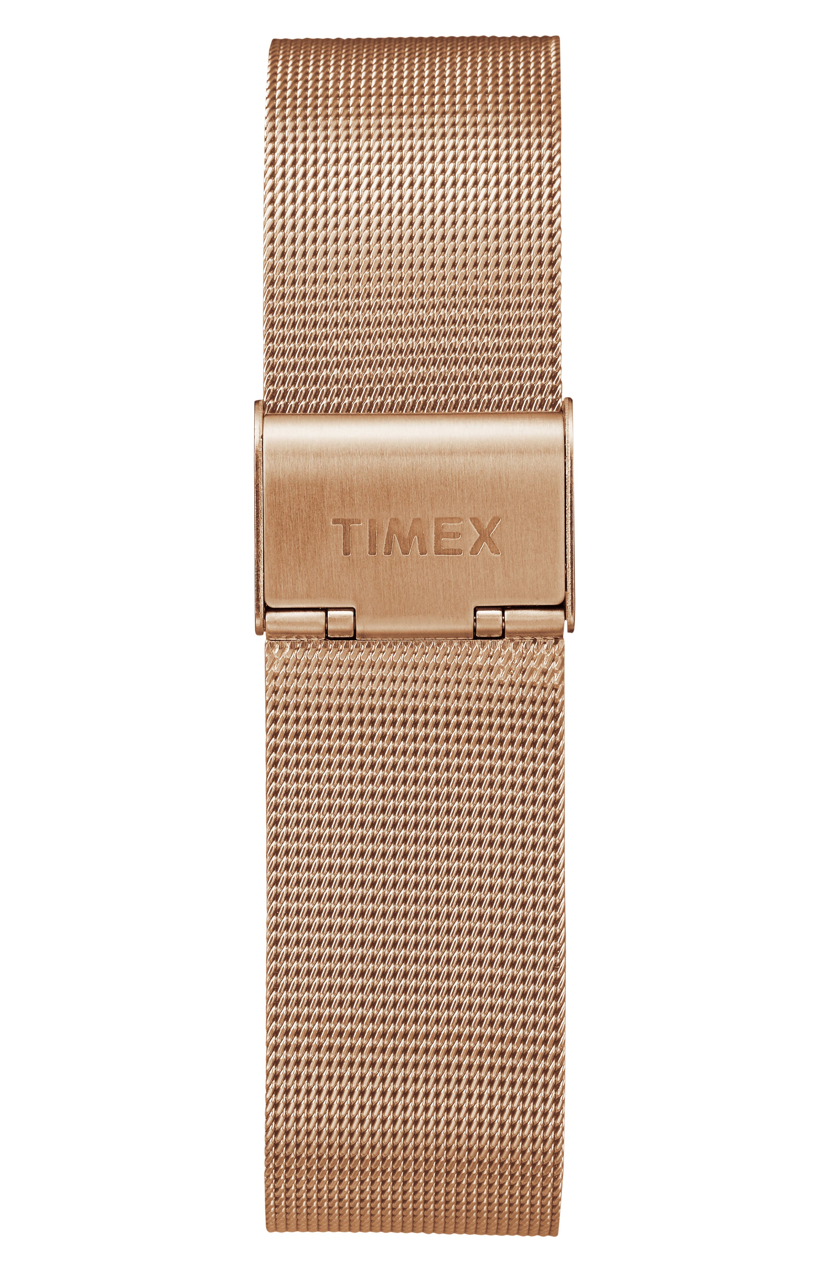 TIMEX<SUP>®</SUP>, Fairfield Chronograph Mesh Strap Watch, 41mm, Alternate thumbnail 2, color, ROSE GOLD/ BLACK/ ROSE GOLD