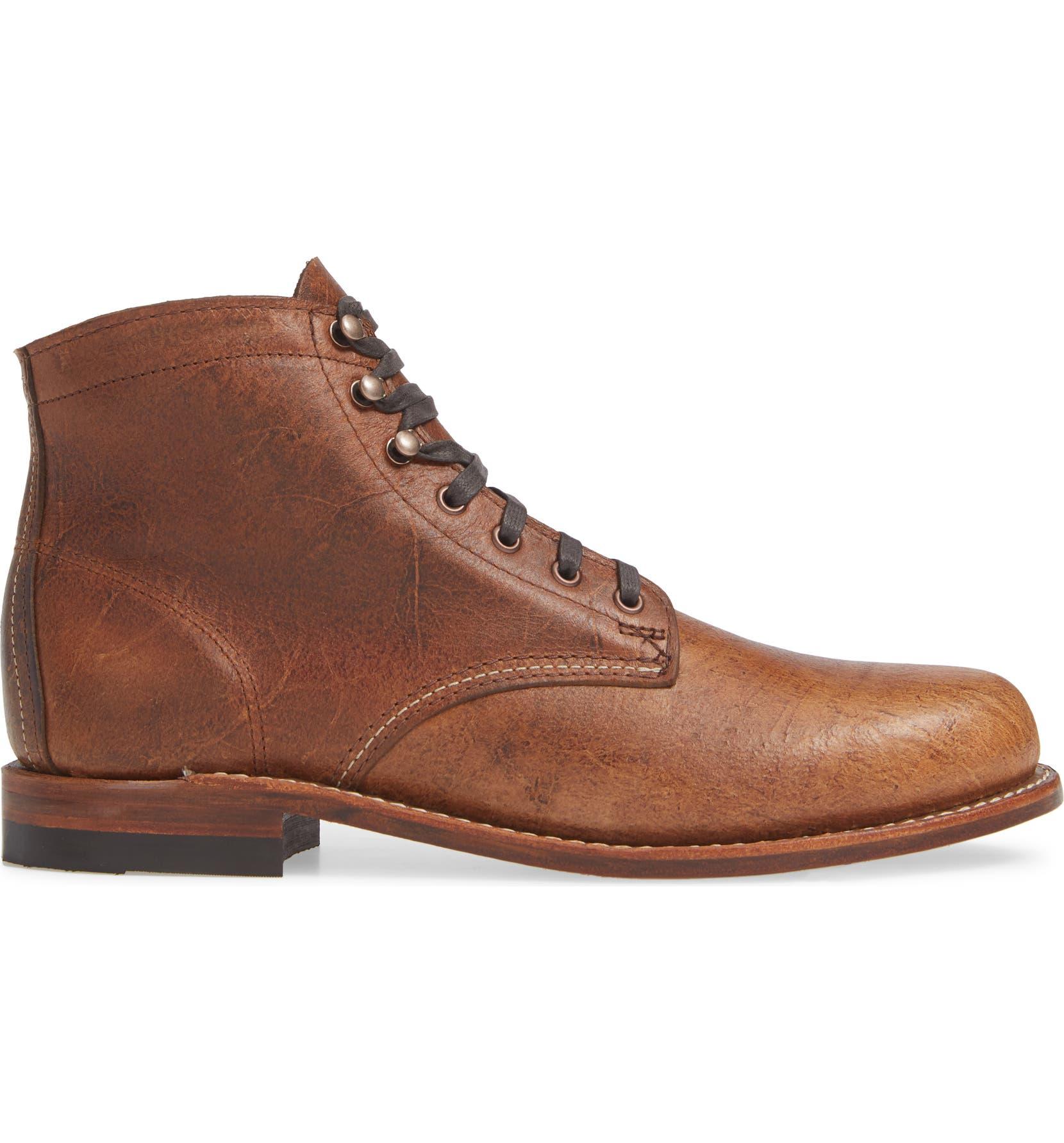 2ebe3a23a69 Wolverine  1000 Mile  Plain Toe Boot (Men)