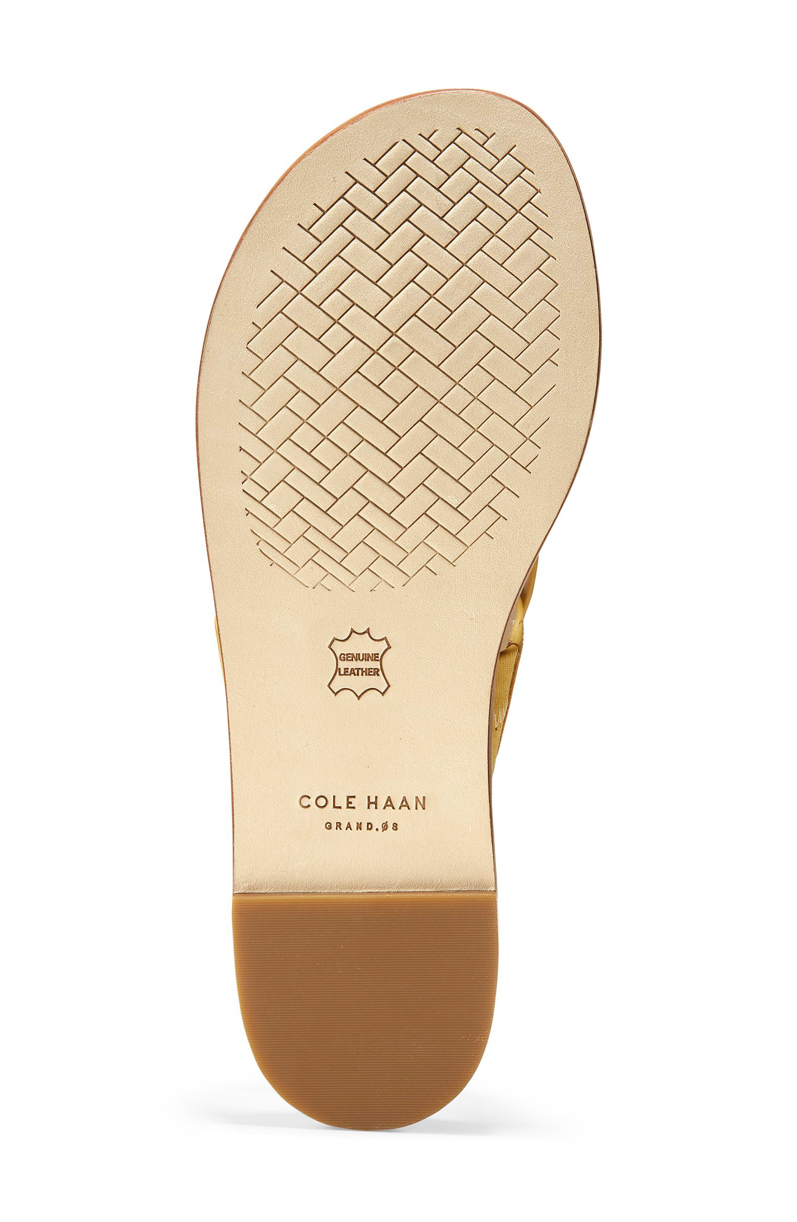 COLE HAAN, Anica Sandal, Alternate thumbnail 6, color, SUNSET GOLD LEATHER