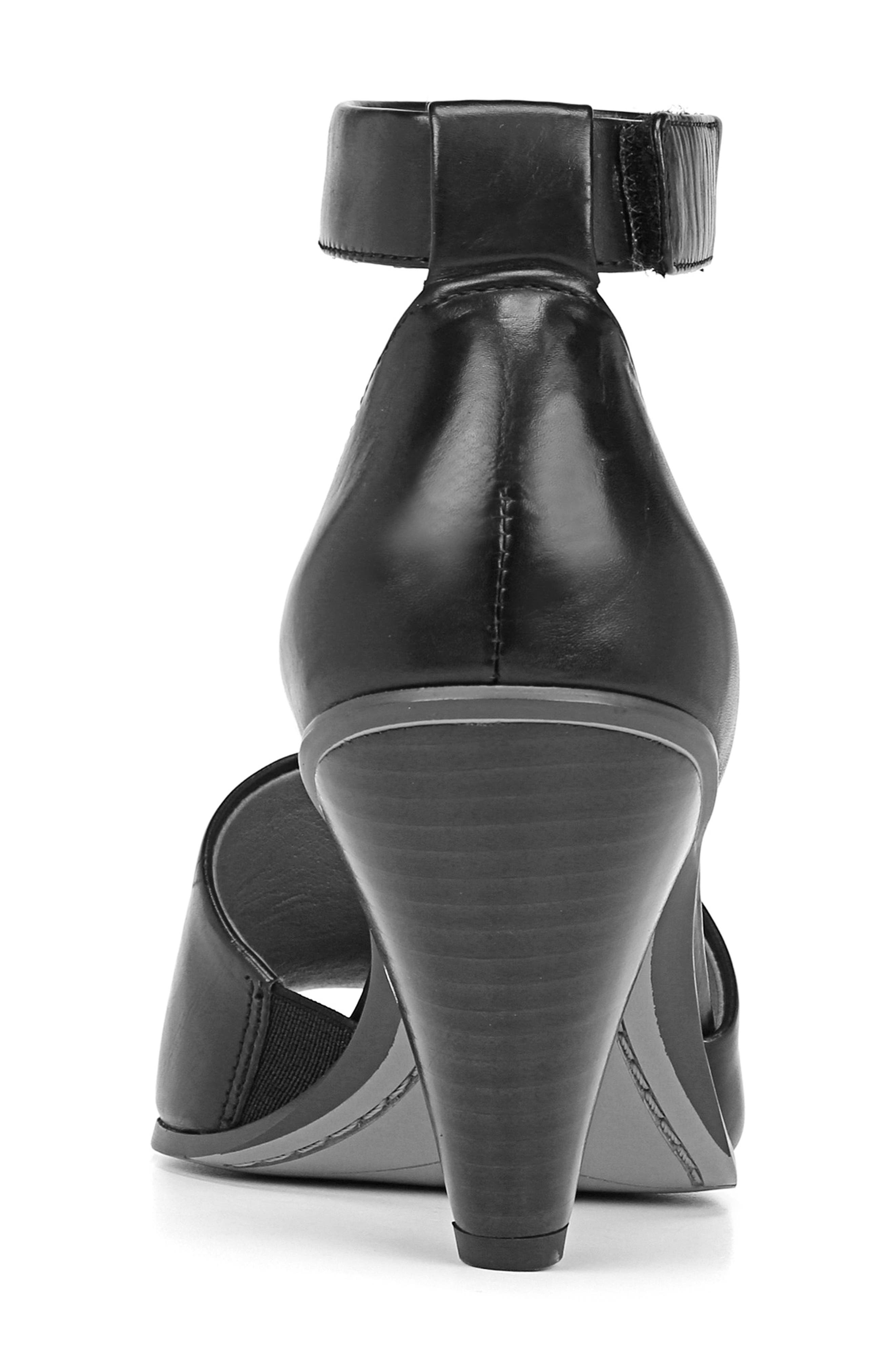SARTO BY FRANCO SARTO, Ankle Strap Sandal, Alternate thumbnail 8, color, BLACK FOULARD LEATHER