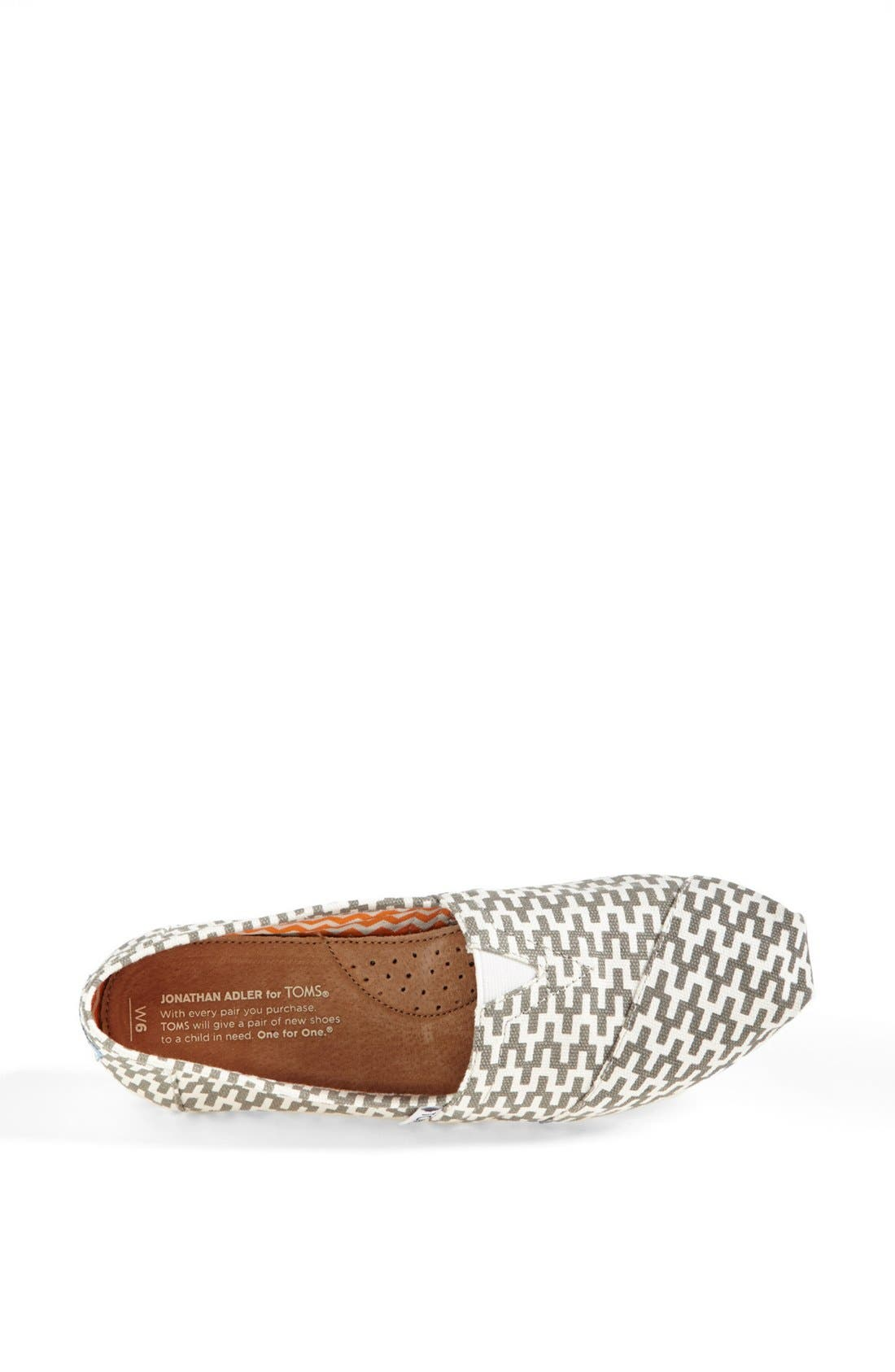 TOMS, 'Classic - Jonathan Adler' Slip-On, Alternate thumbnail 4, color, 020