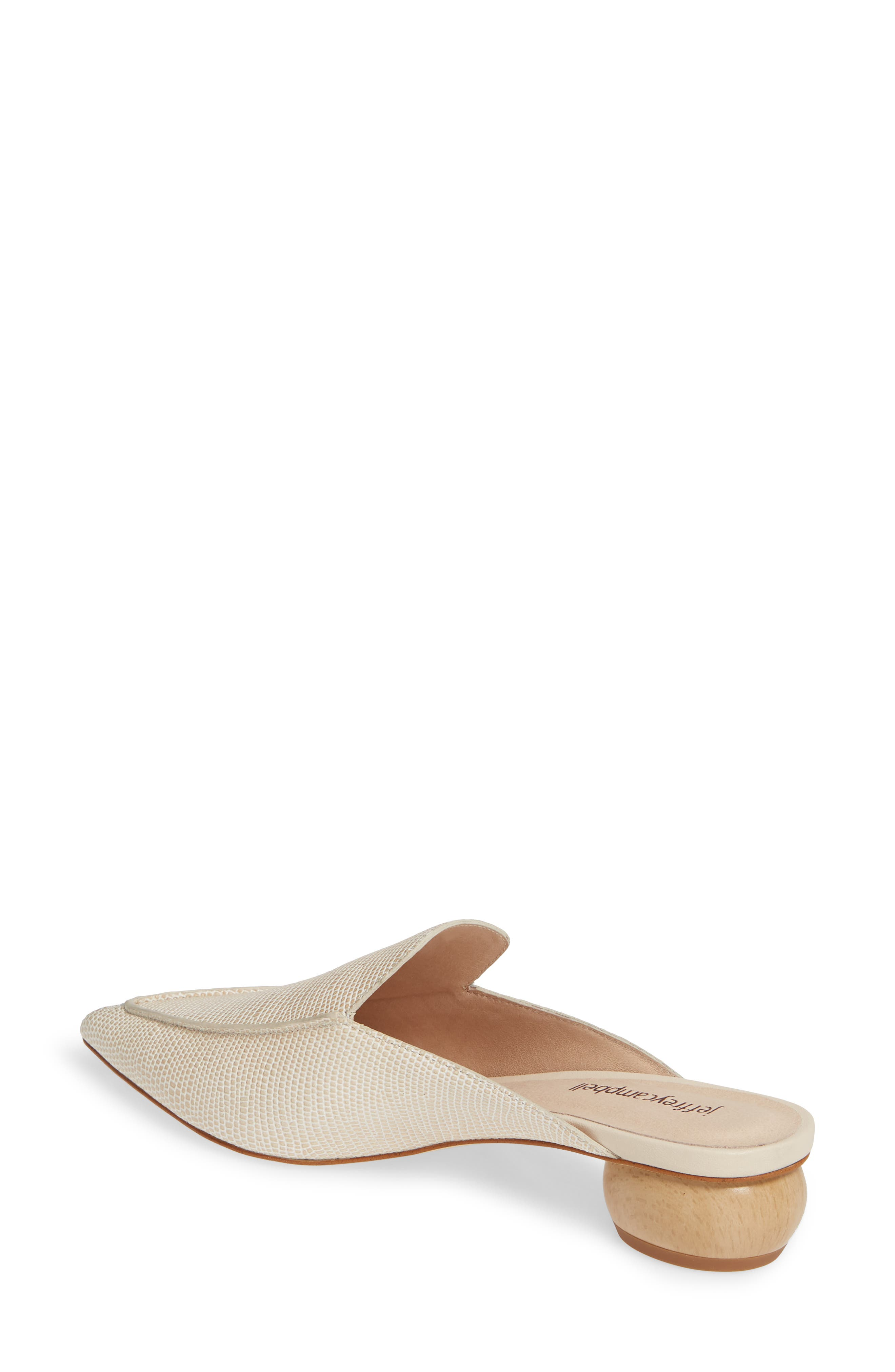 JEFFREY CAMPBELL, Vionit Lizard Embossed Loafer Mule, Alternate thumbnail 2, color, BEIGE LIZARD PRINT