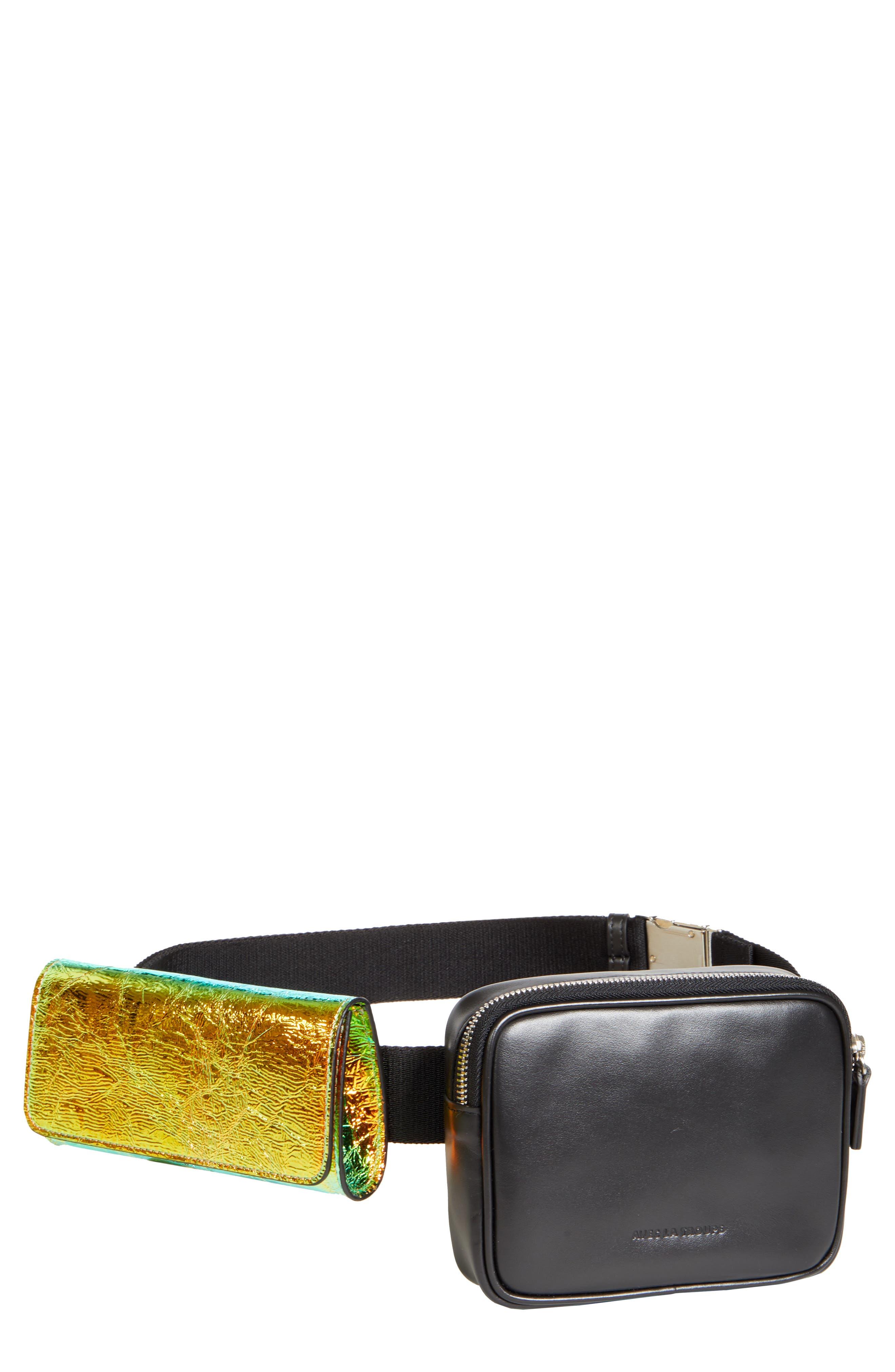AVEC LA TROUPE Covey Convertible Belt Bag, Main, color, DARK HOLO
