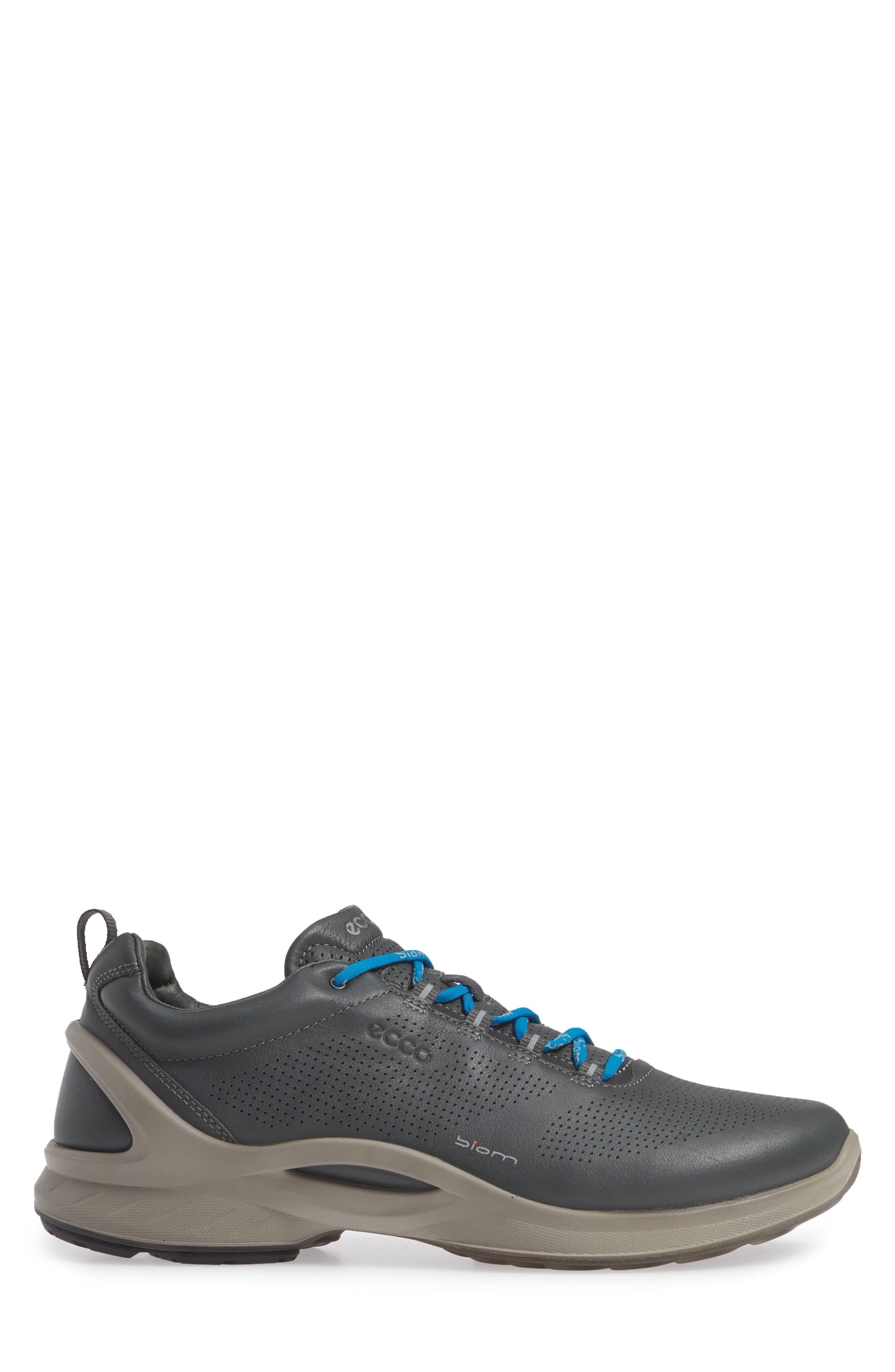 ECCO, 'BIOM Fjuel' Sneaker, Alternate thumbnail 3, color, DARK SHADOW LEATHER