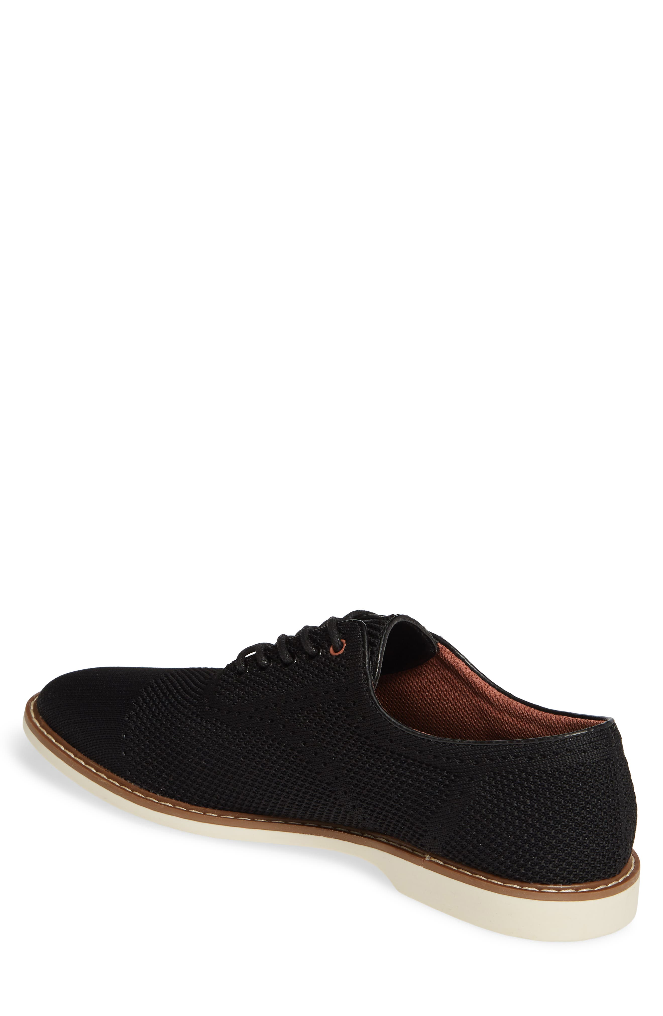 THE RAIL, Jared Plain Toe Oxford, Alternate thumbnail 2, color, BLACK