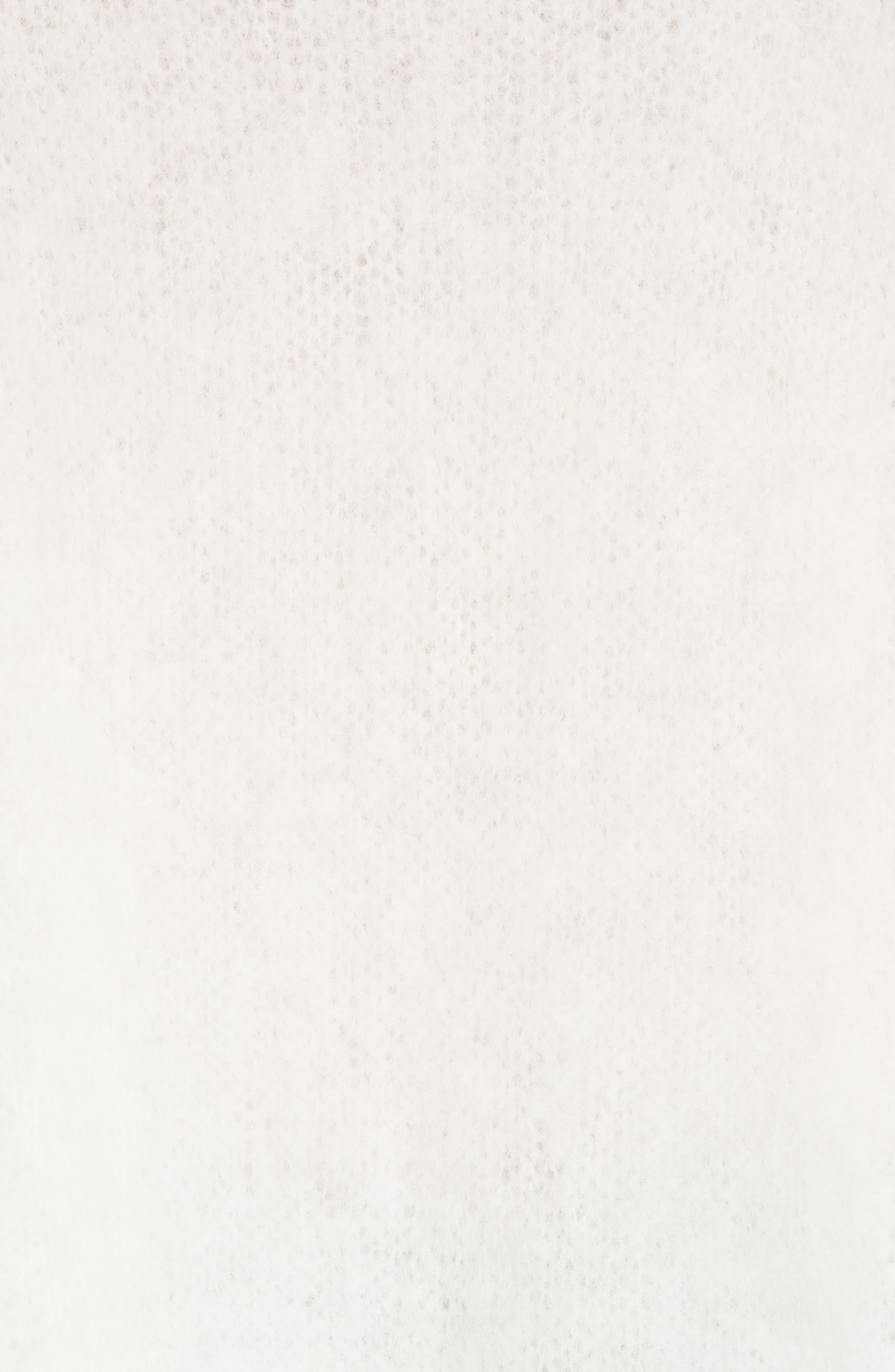 HELMUT LANG, Mohair Blend Sweater, Alternate thumbnail 5, color, NATURAL WHITE