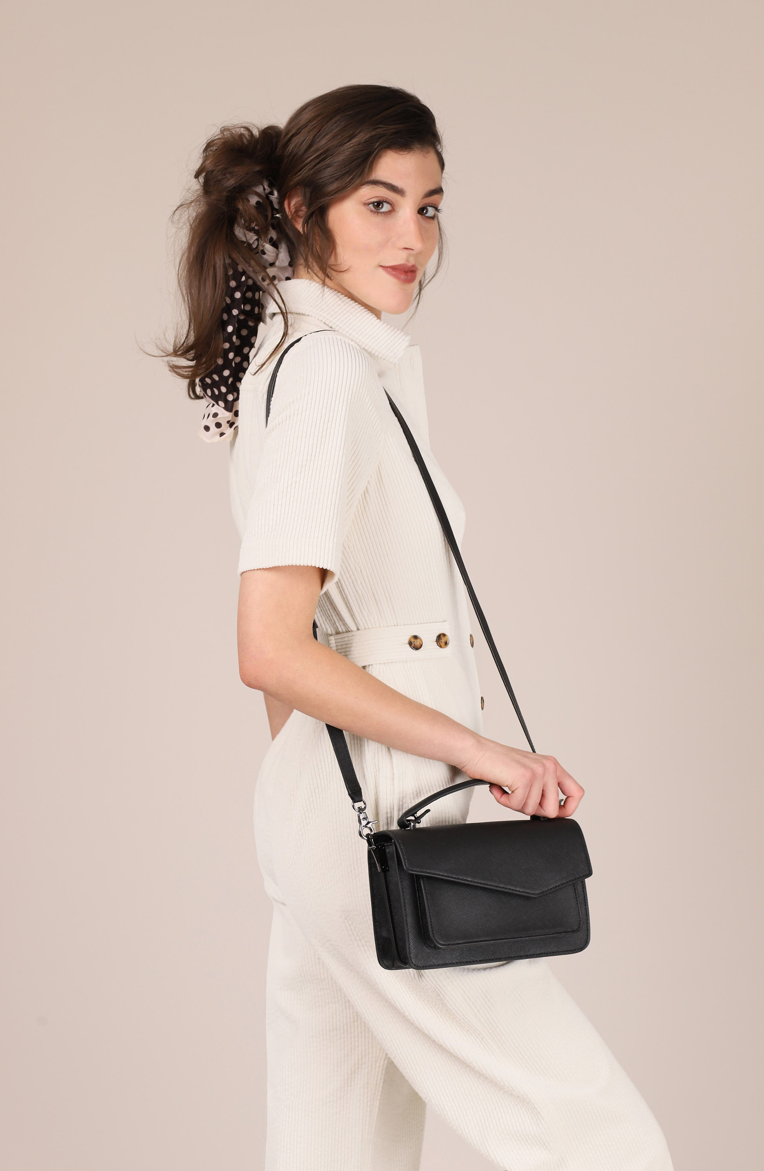 BOTKIER, Cobble Hill Leather Crossbody Bag, Alternate thumbnail 3, color, BLACK