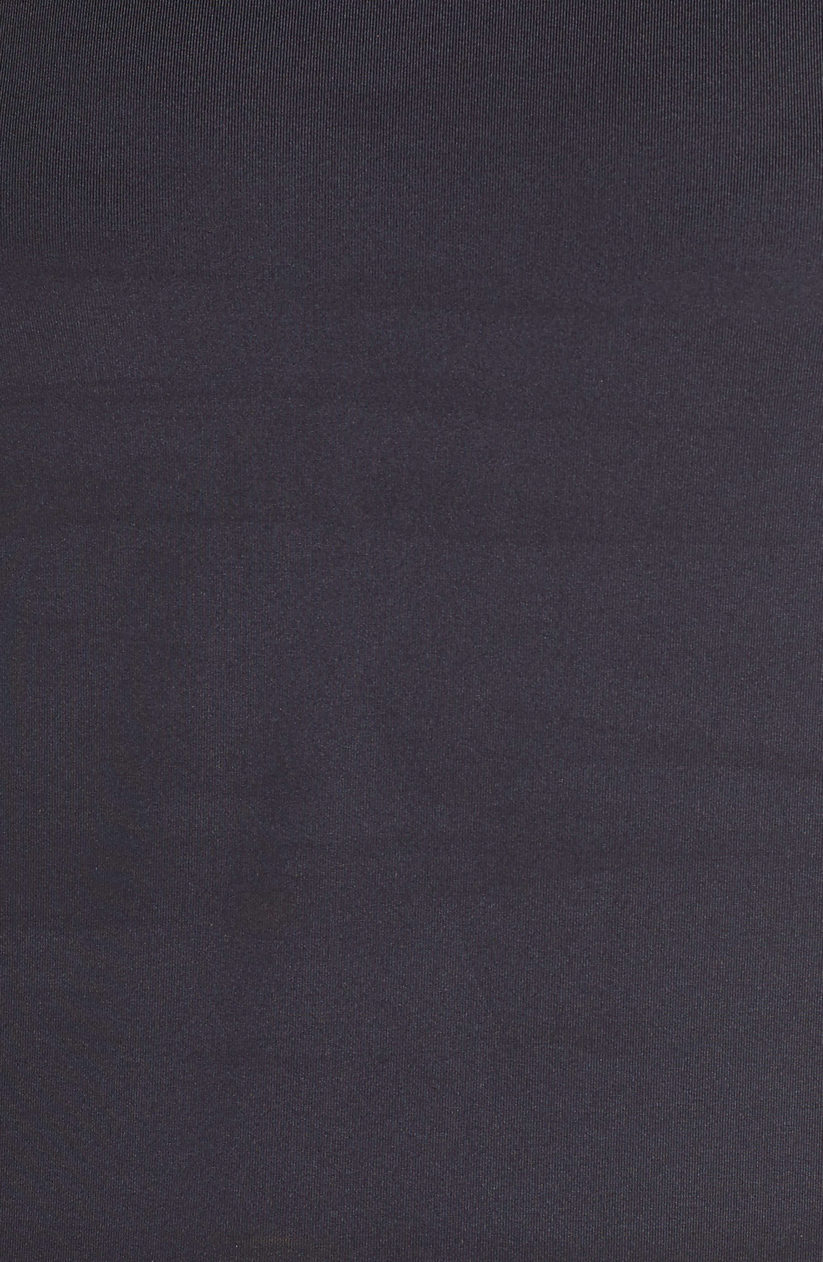 NIKE, Long Sleeve Hydroguard Shirt, Alternate thumbnail 6, color, BLACK