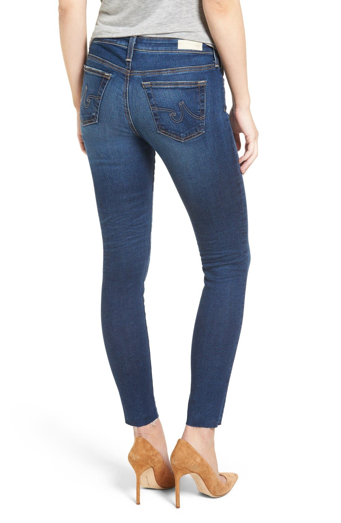 AG, 'The Legging' Ankle Jeans, Alternate thumbnail 5, color, 7YR BREAK W/ RAW HEM