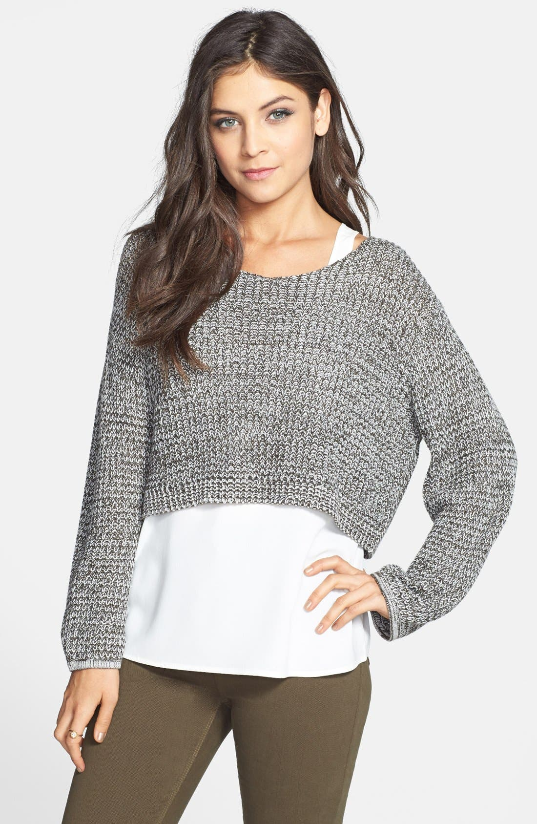 RUBBISH<SUP>®</SUP>, Oversized Crop Pullover, Main thumbnail 1, color, 200