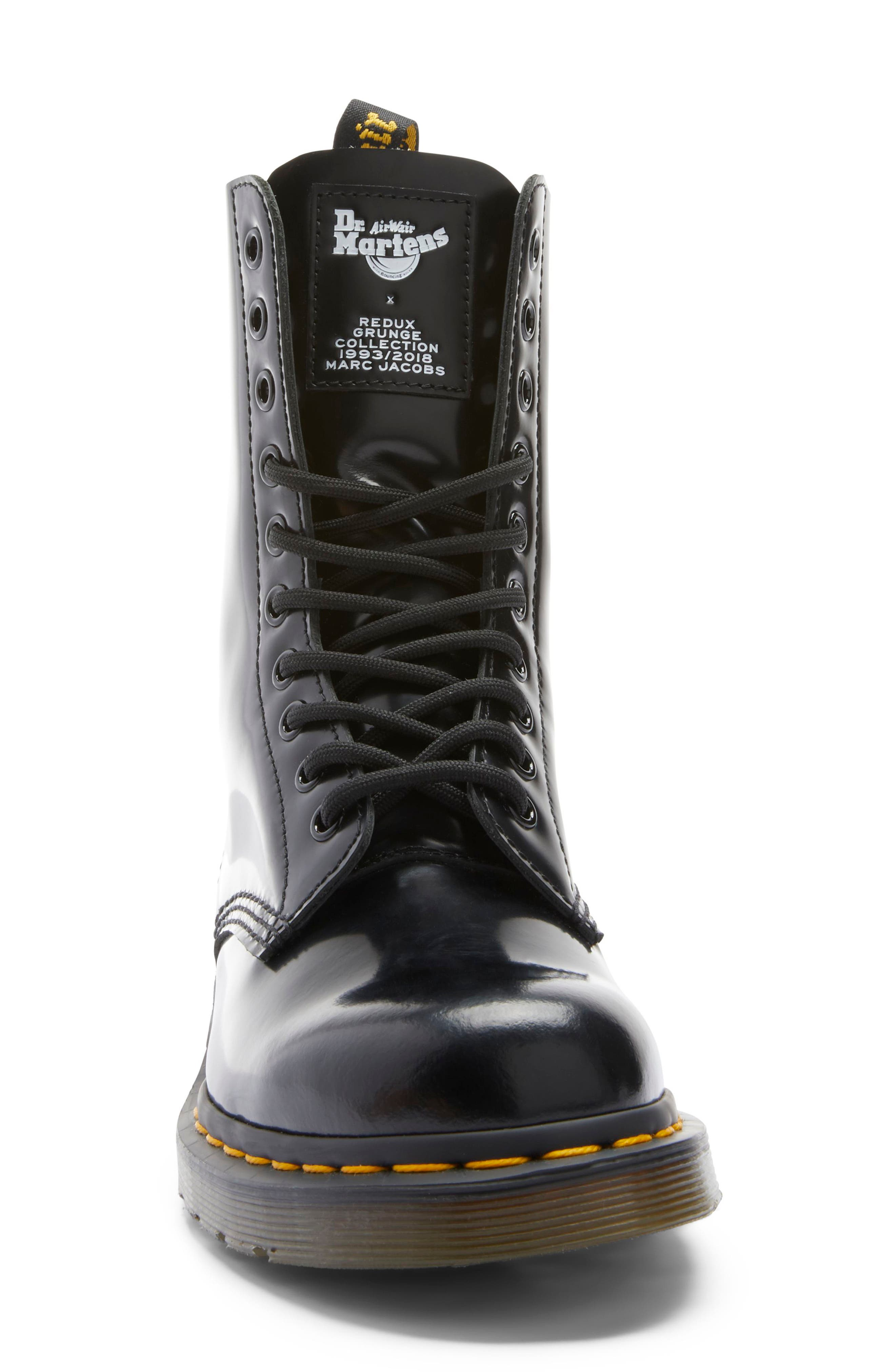 MARC JACOBS, Dr. Martens x MARC JACOBS Boot, Alternate thumbnail 4, color, BLACK