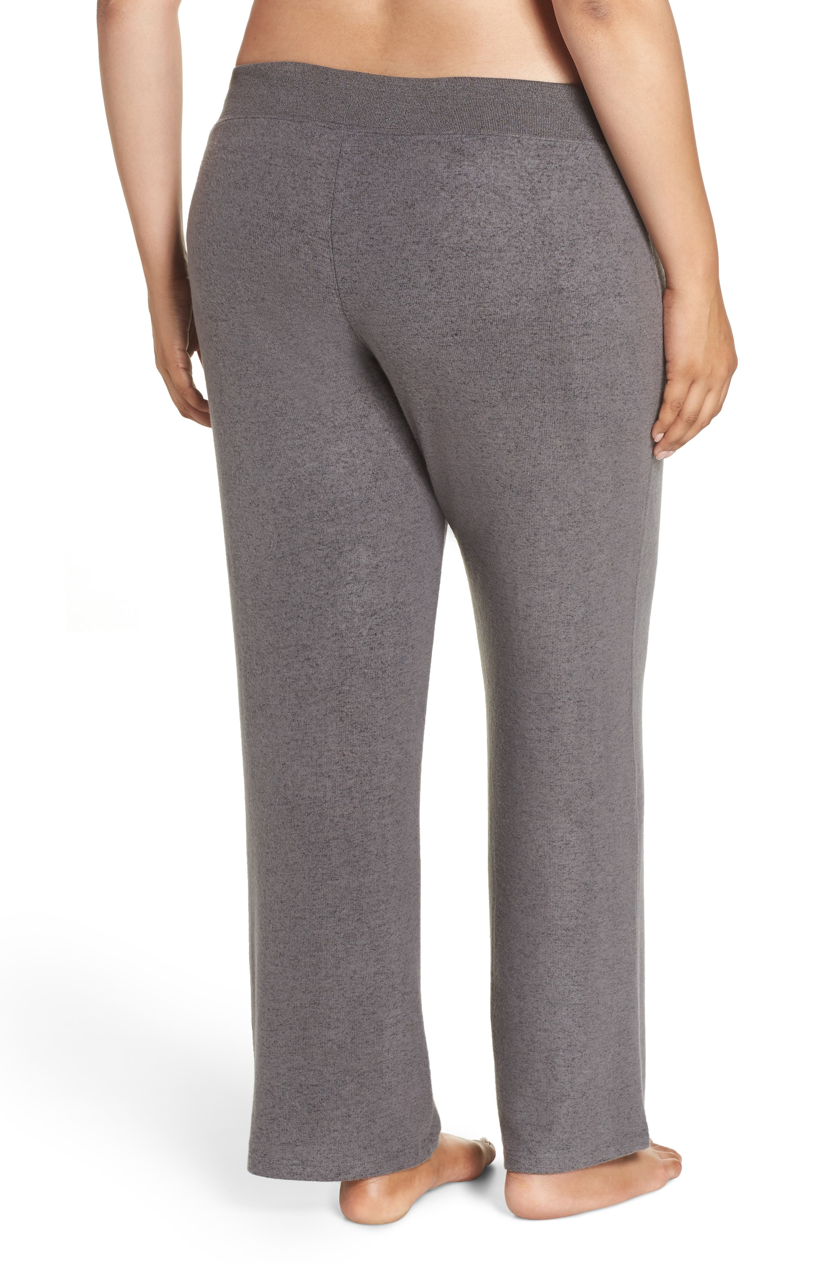 MAKE + MODEL, 'Best Boyfriend' Brushed Hacci Lounge Pants, Alternate thumbnail 2, color, GREY PAVEMENT MARL