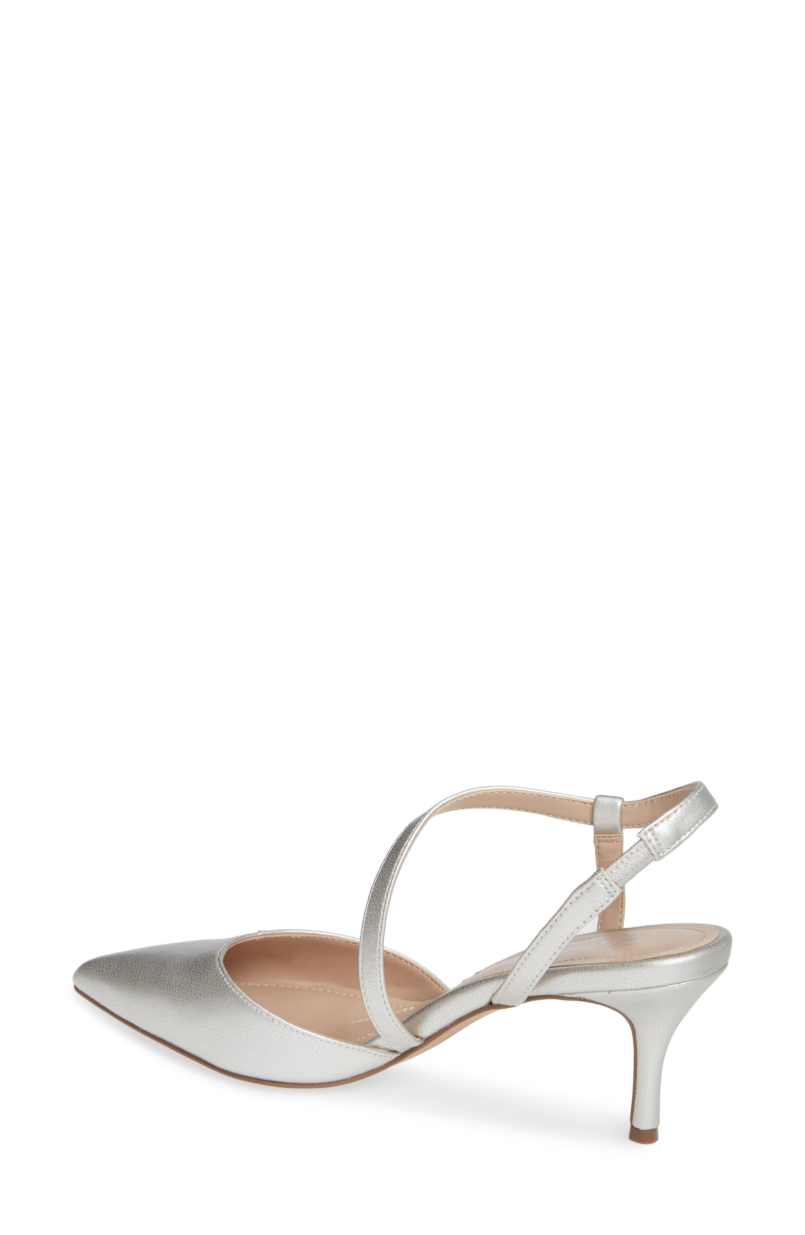 CHARLES BY CHARLES DAVID, Alda Pump, Alternate thumbnail 2, color, SILVER FAUX LEATHER