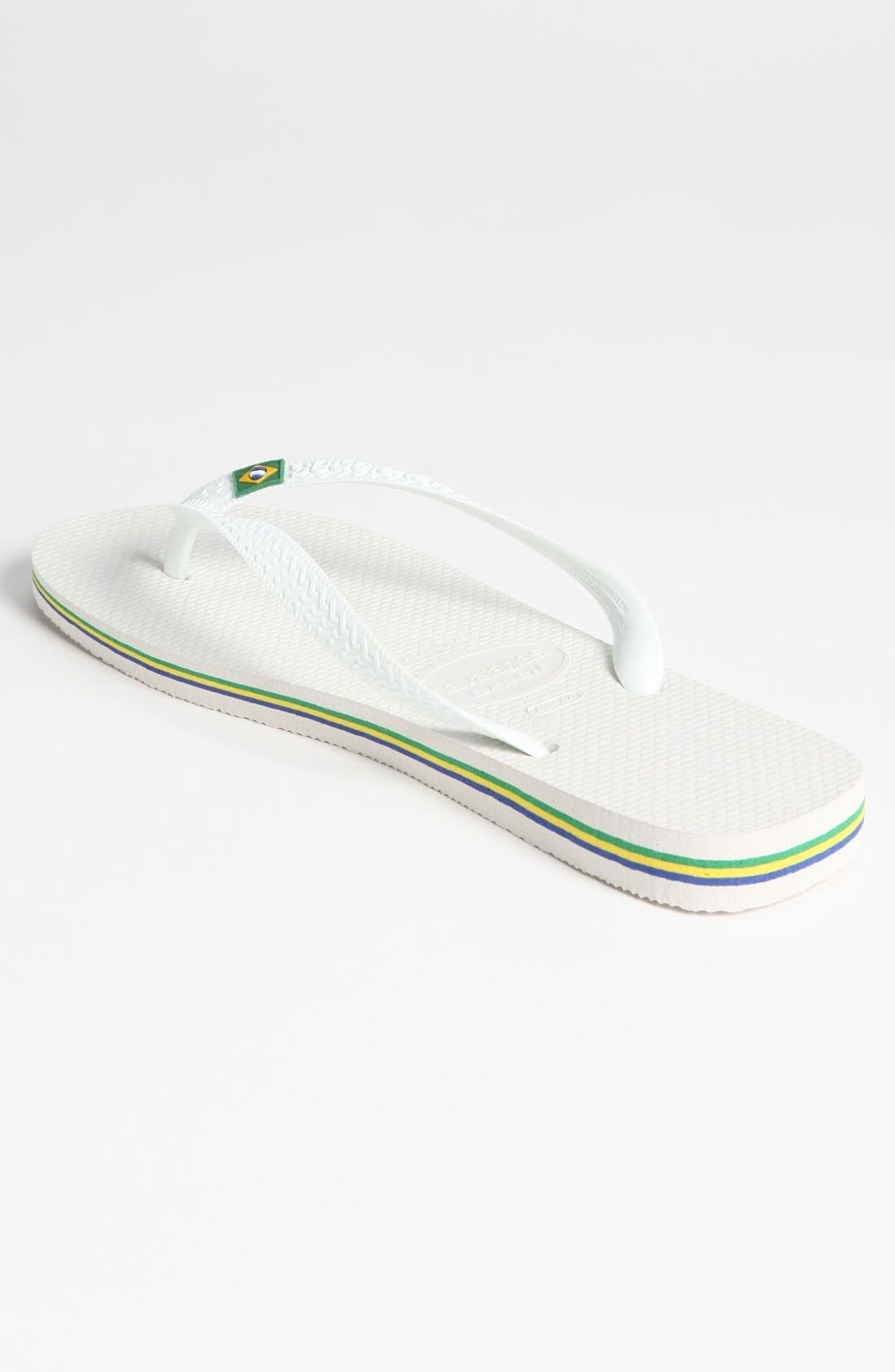 HAVAIANAS, 'Brazil' Flip Flop, Alternate thumbnail 4, color, WHITE