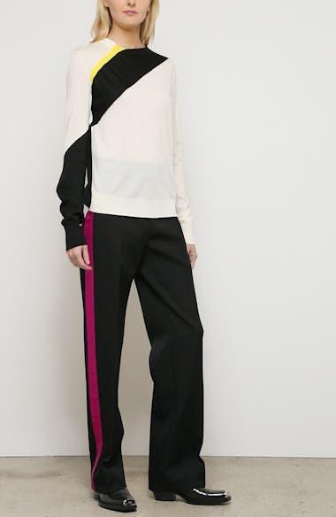 Contrast Stripe Wool Blend Sweater, video thumbnail