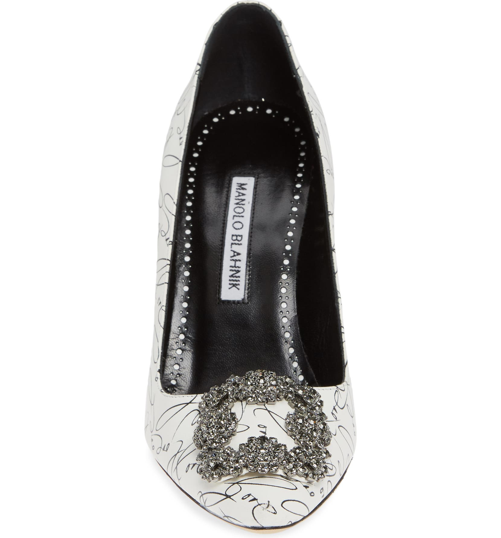 3d807fb0d85 Manolo Blahnik Decade of Love Hangisi Anniversary Embellished Pump (Women)  (Limited Edition)