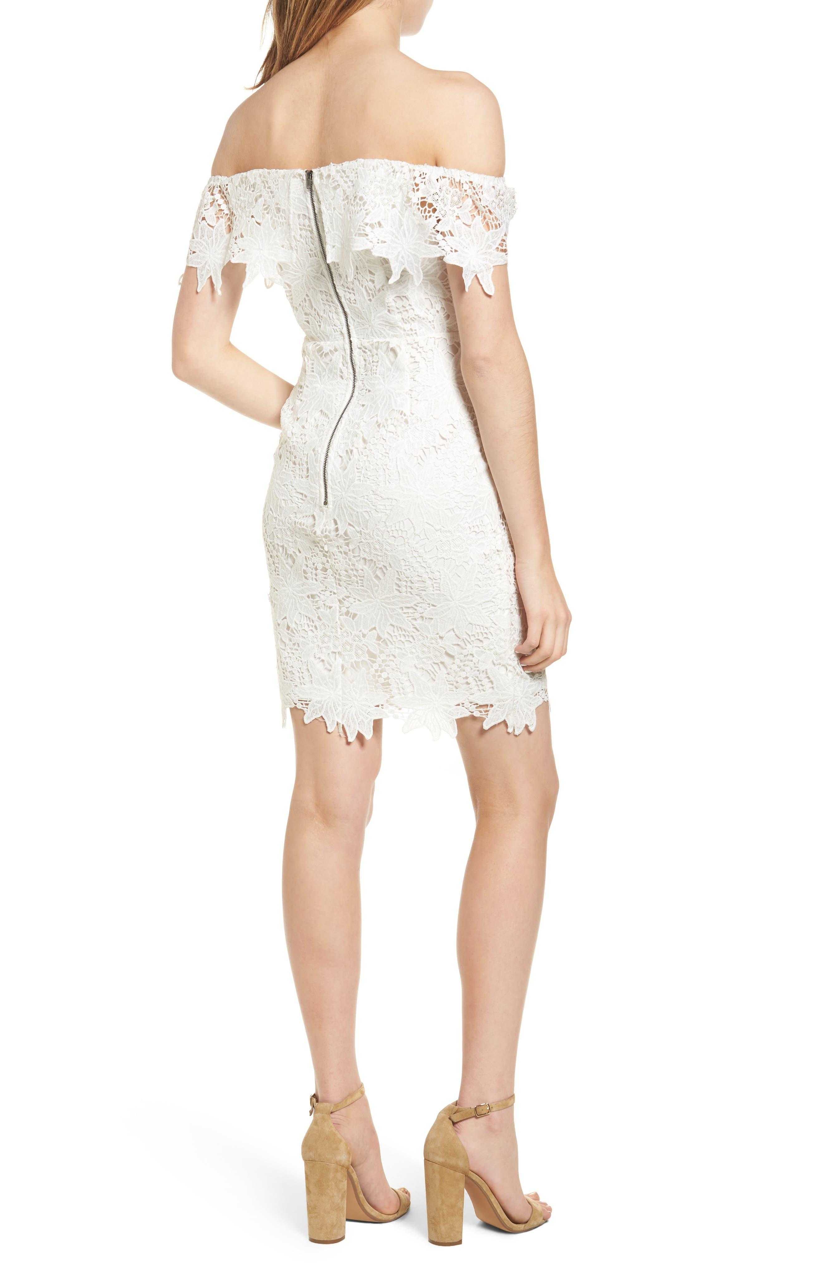 ASTR THE LABEL, Daniella Lace Body-Con Dress, Alternate thumbnail 2, color, 100
