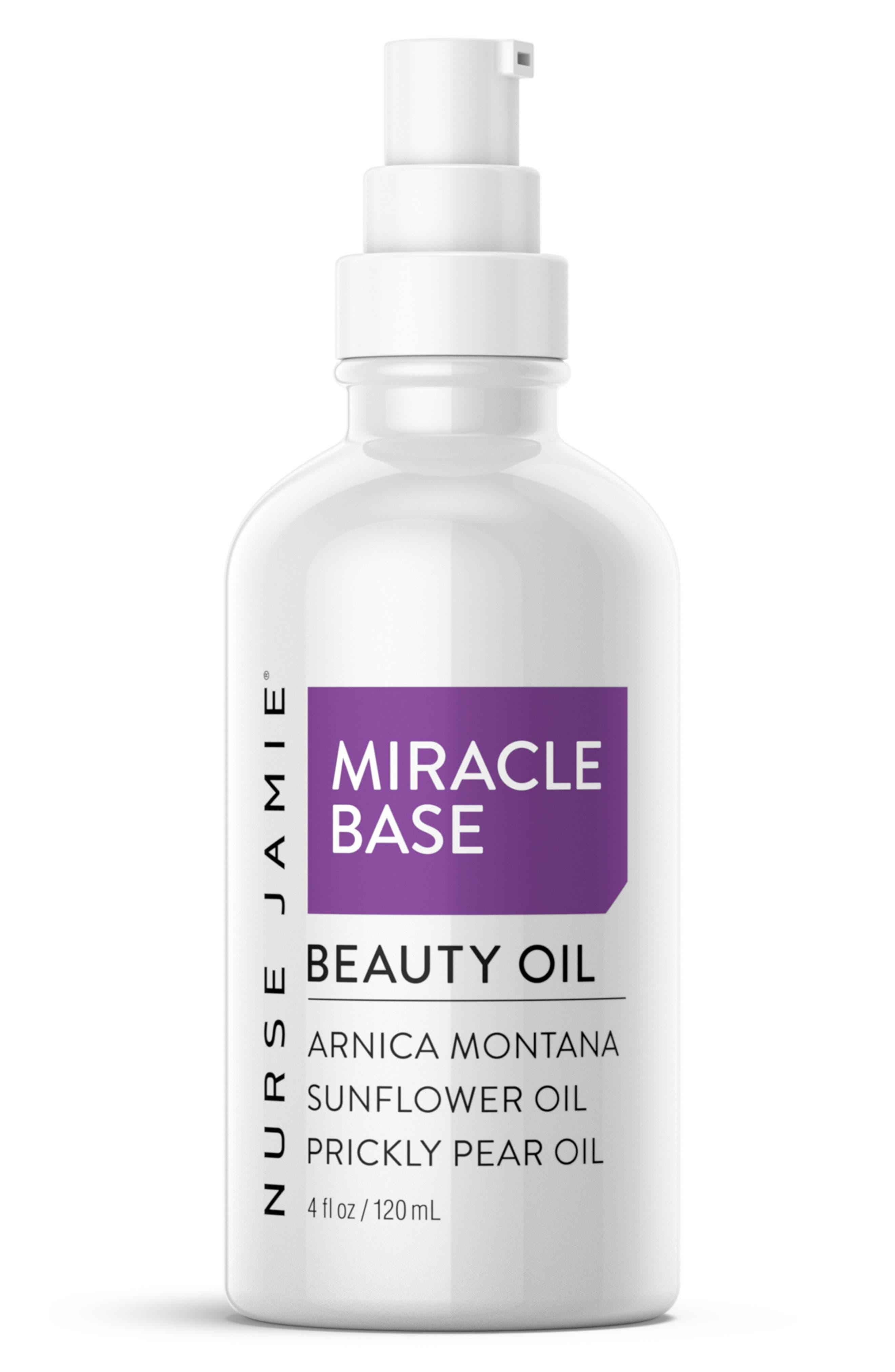 NURSE JAMIE, Miracle Base Beauty Oil, Main thumbnail 1, color, NO COLOR