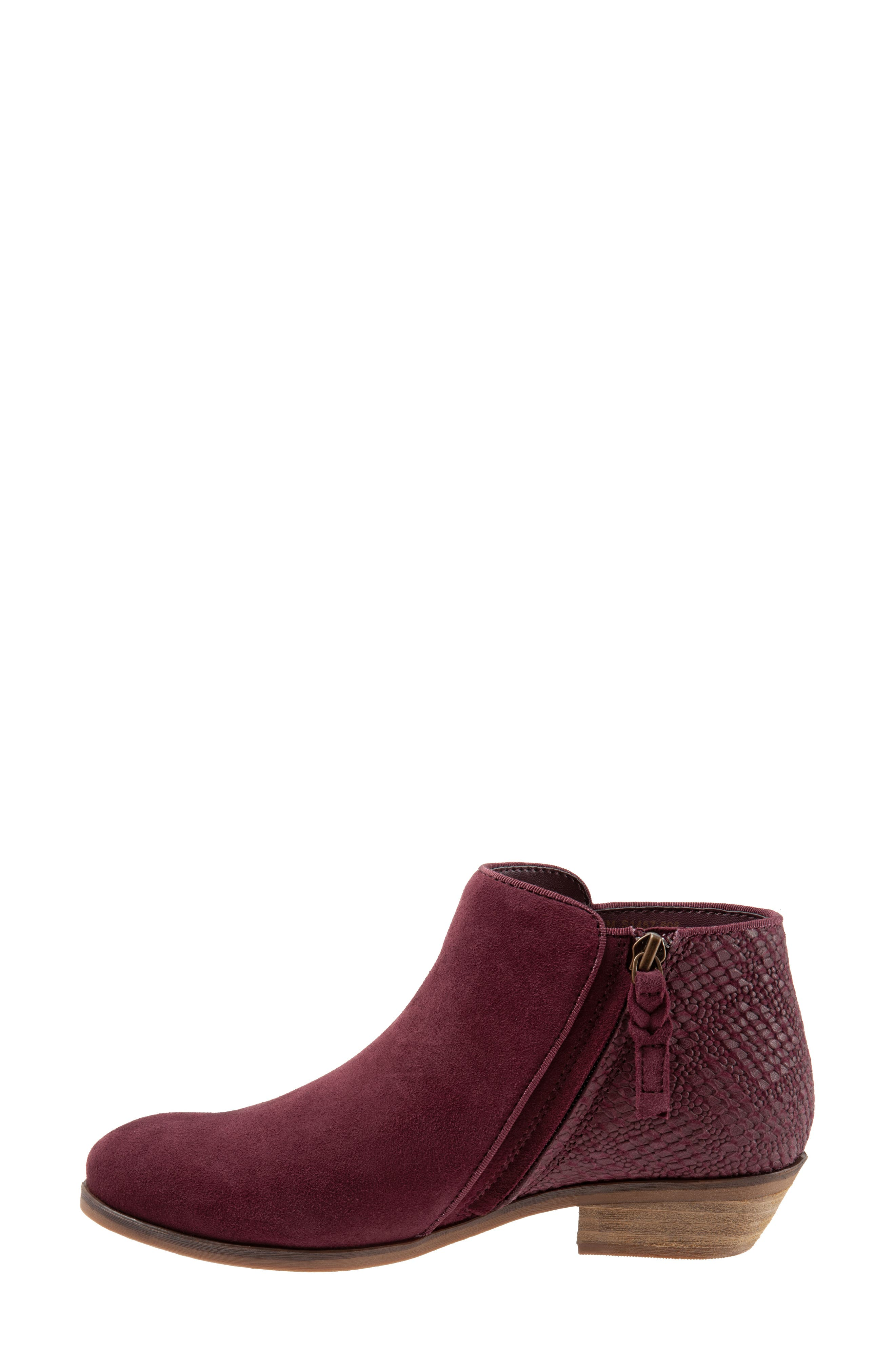 SOFTWALK<SUP>®</SUP>, 'Rocklin' Bootie, Alternate thumbnail 8, color, BURGUNDY LEATHER