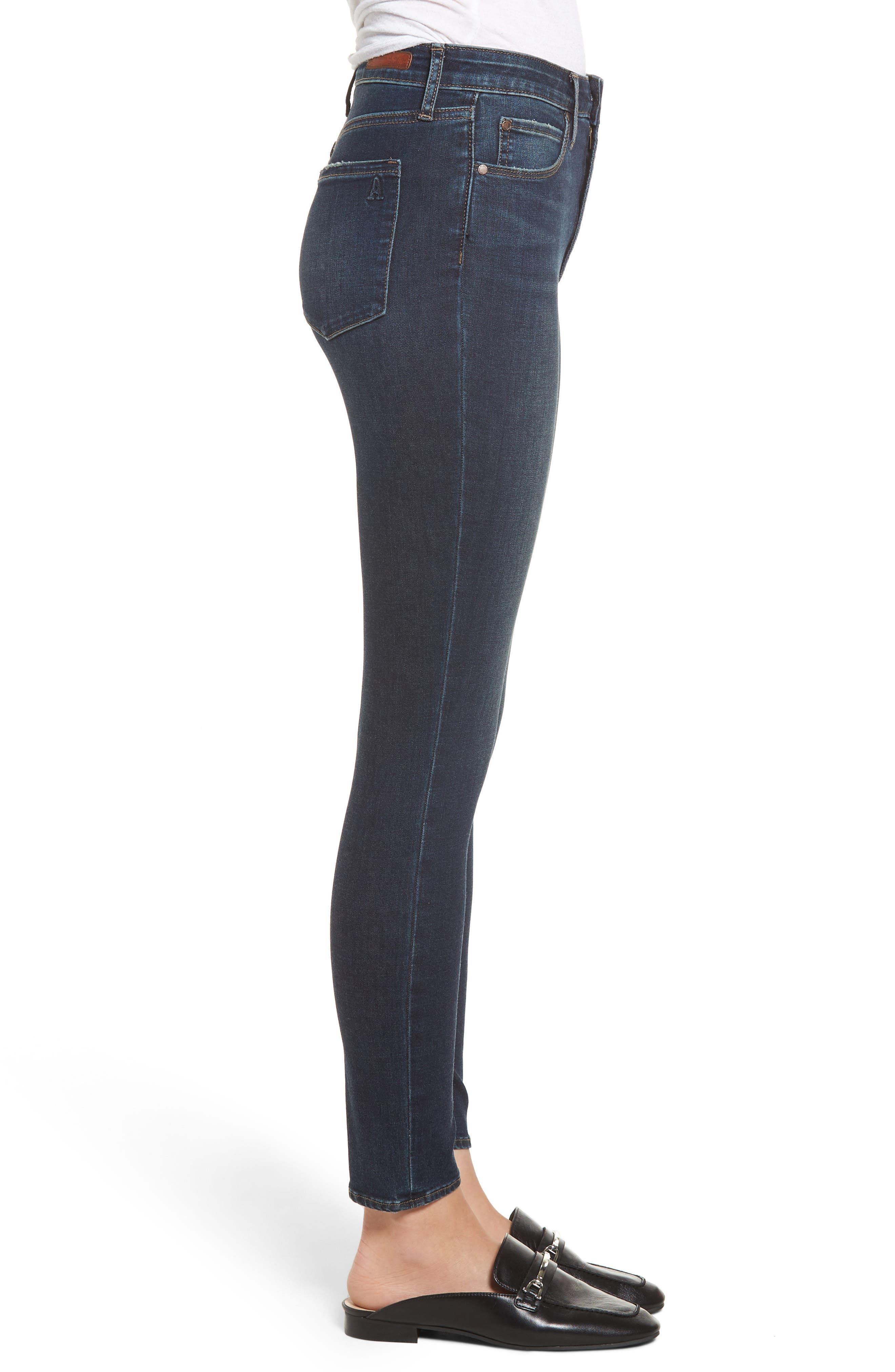 ARTICLES OF SOCIETY, Heather High Waist Ankle Skinny Jeans, Alternate thumbnail 4, color, 461