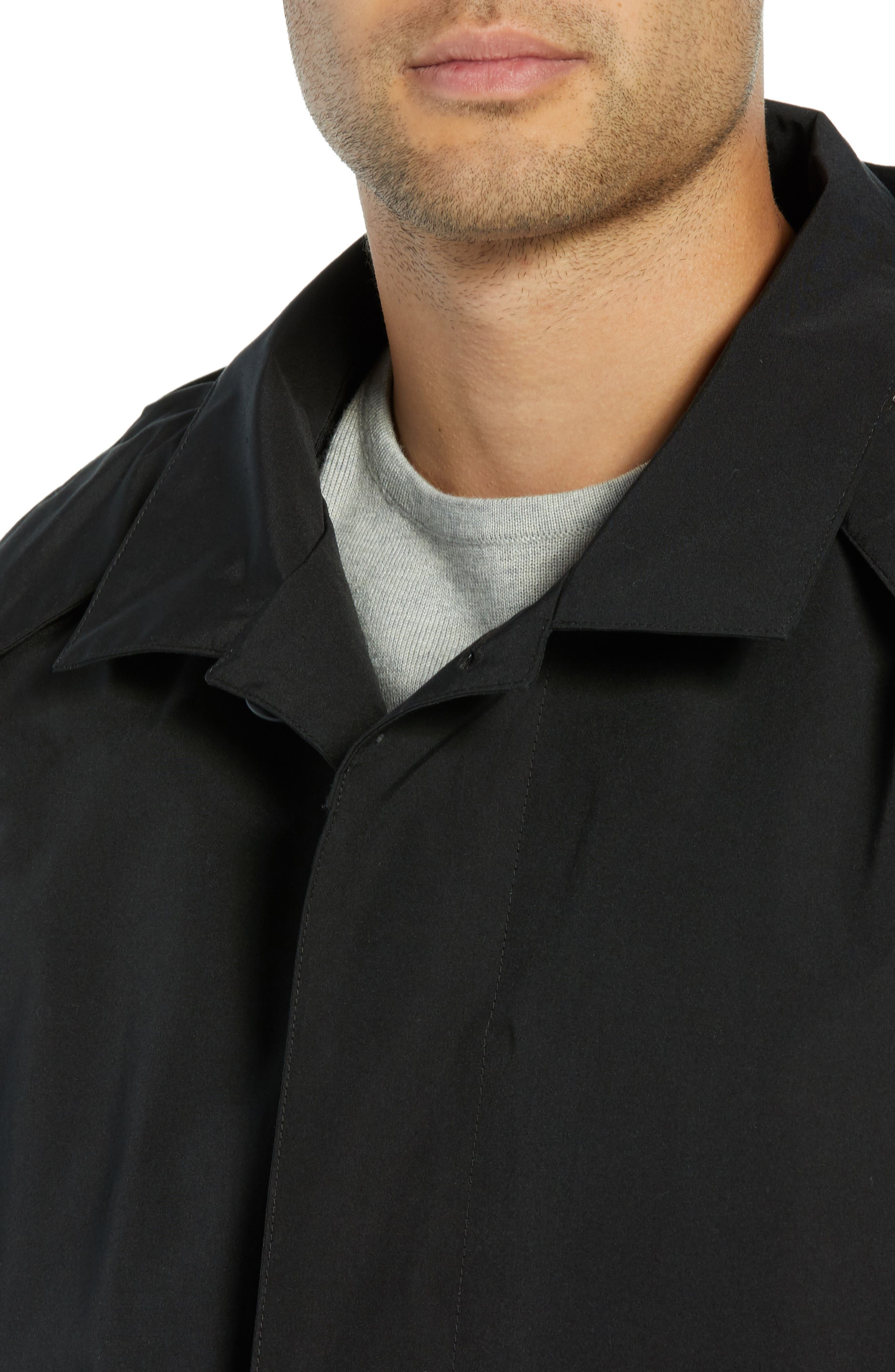 PENDLETON, Harbor Cloth Seattle Raincoat, Alternate thumbnail 5, color, BLACK