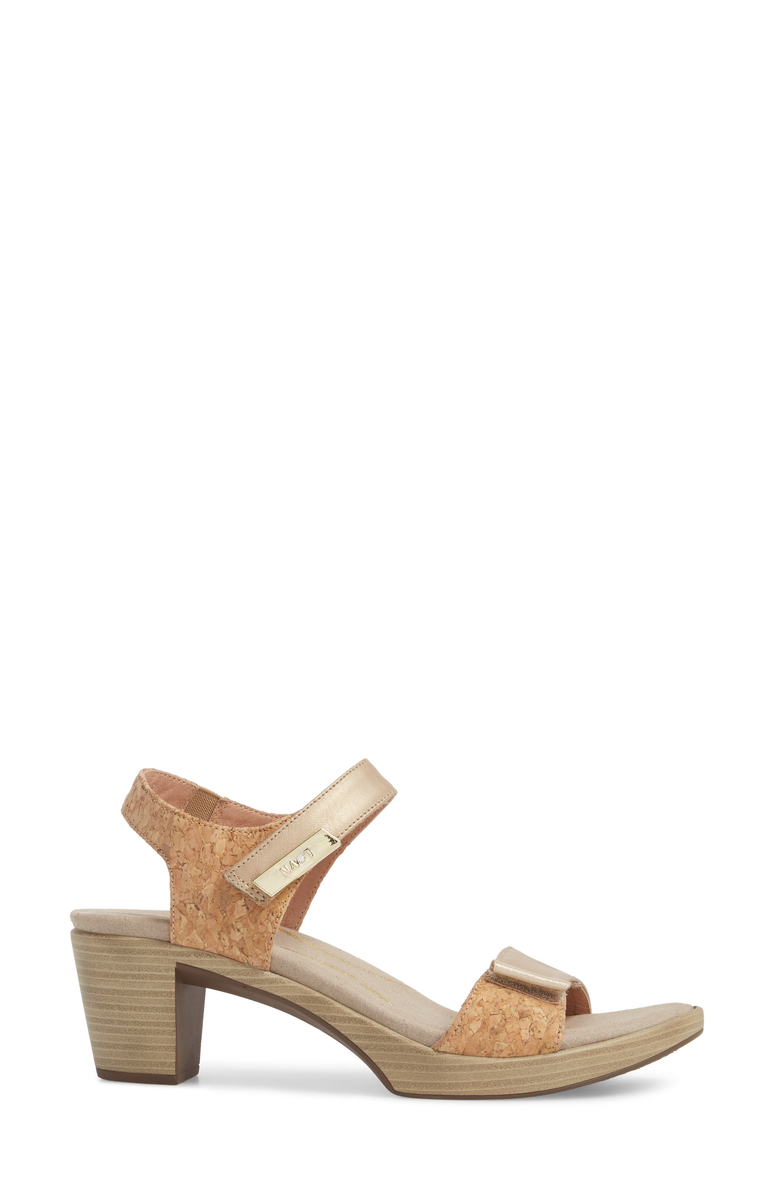NAOT, 'Intact' Sandal, Alternate thumbnail 3, color, CHAMPAGNE LEATHER