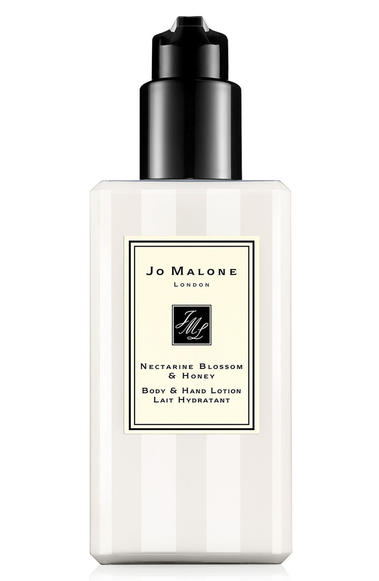 JO MALONE LONDON<SUP>™</SUP> Nectarine Blossom & Honey Body & Hand Lotion, Main, color, NO COLOR