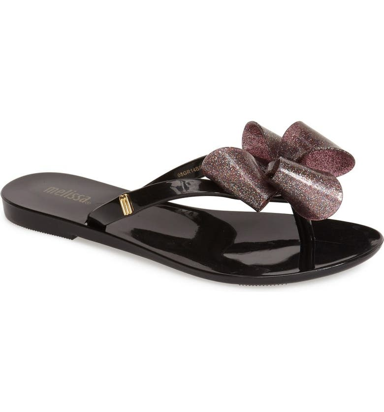 4ab256edafb Mini Melissa  Harmonic Bow  Jelly Thong Sandal (Toddler   Little Kid ...