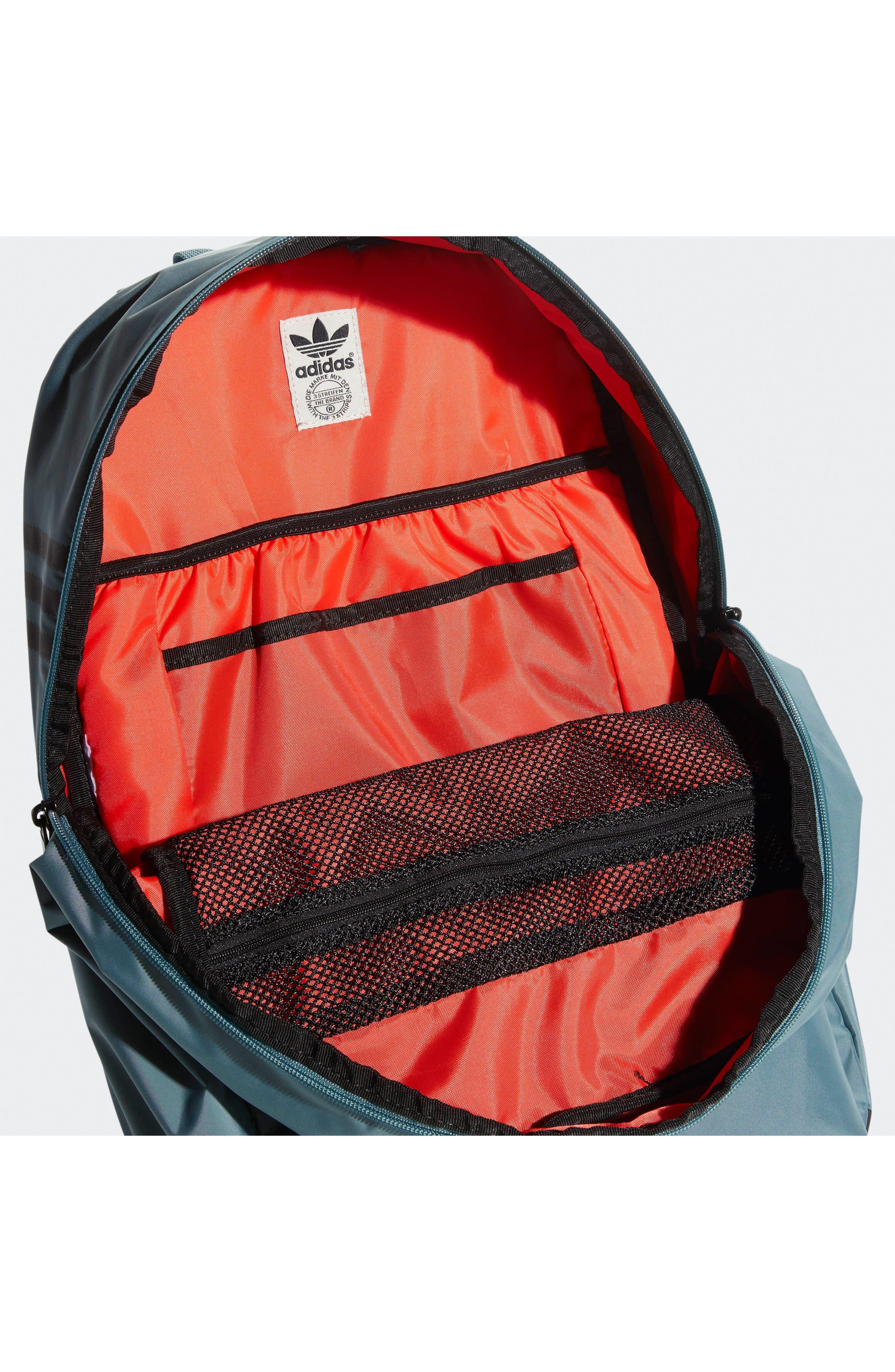 ADIDAS ORIGINALS, National Plus Backpack, Alternate thumbnail 4, color, RAW GREEN